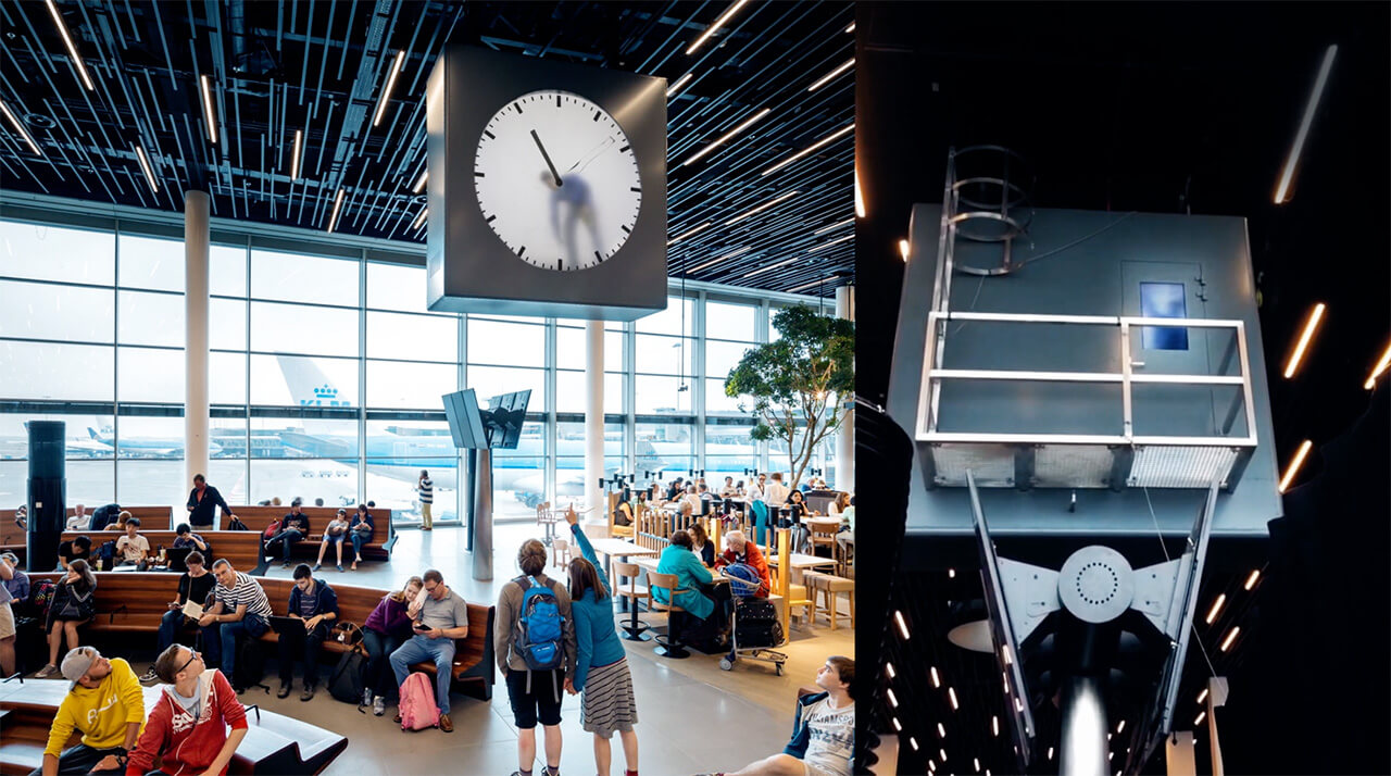 Schiphol clock by Dutch artist and designer Maarten Baas| STIRworld