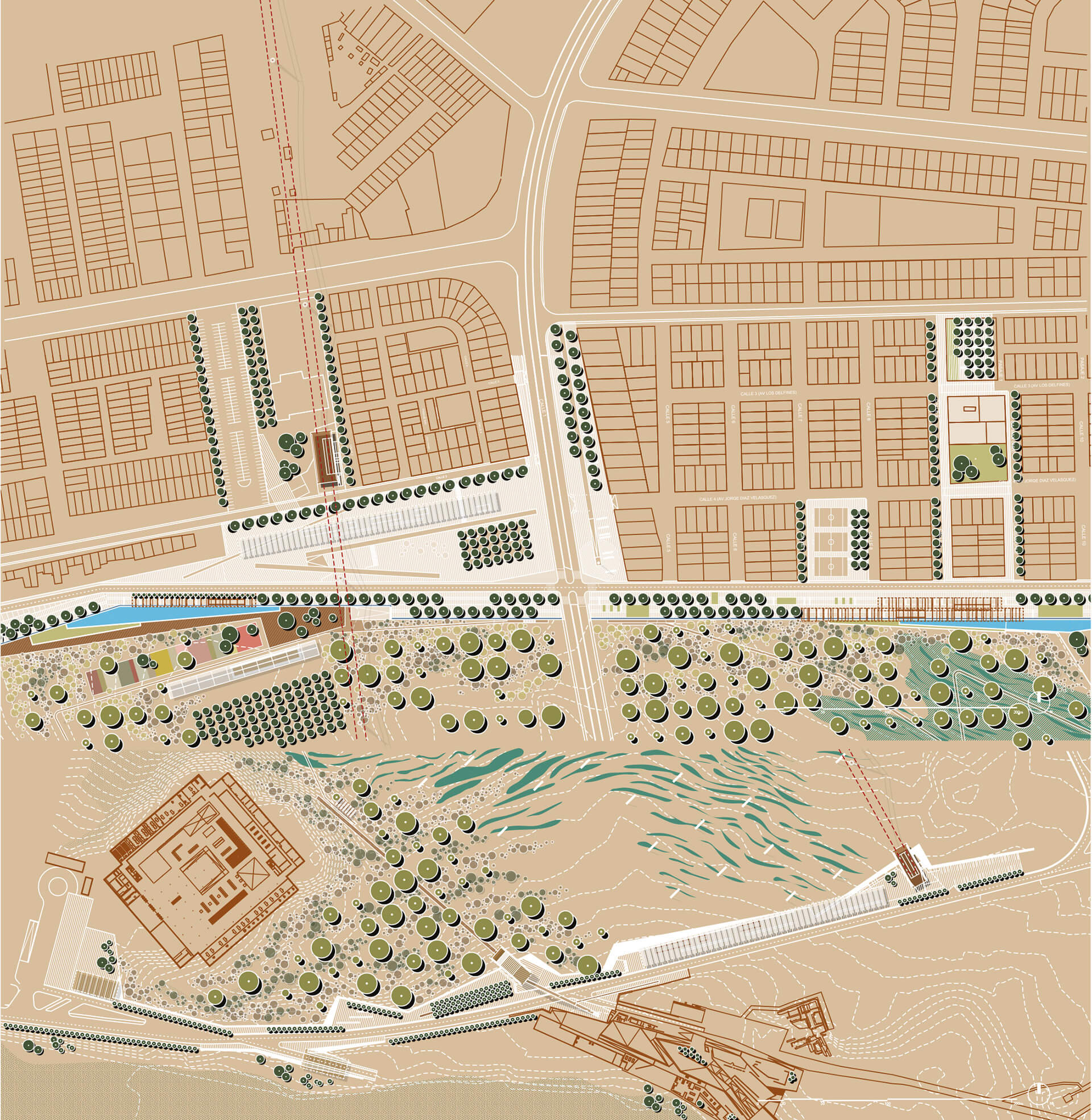 Masterplan of The Plinth and the Mantle| Parque Pachacamac: The Mantle and the Plinth | Alfaro Lachhwani McKay | STIRworld