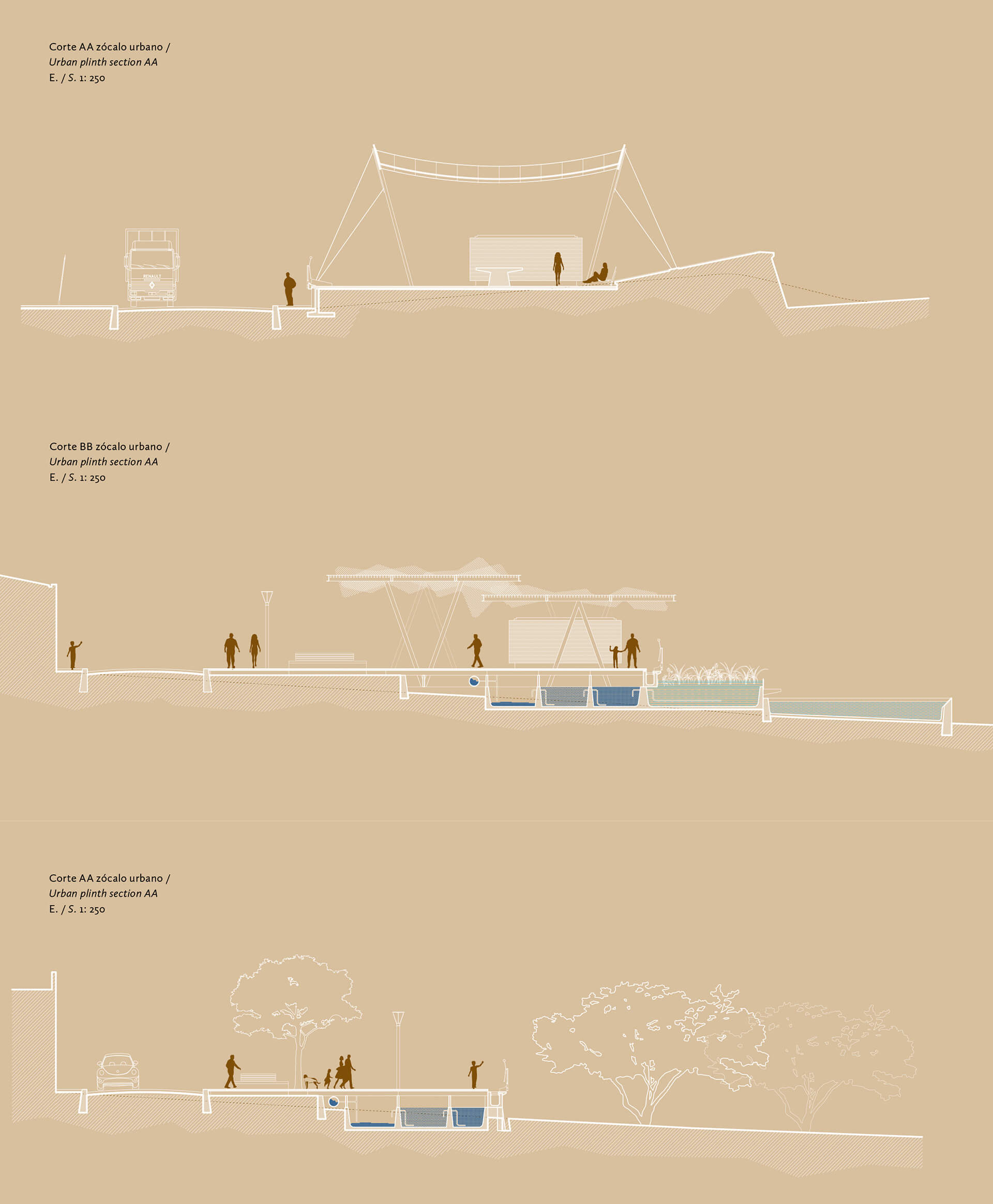 Section of Urban Plinth | Parque Pachacamac: The Mantle and the Plinth | Alfaro Lachhwani McKay | STIRworld
