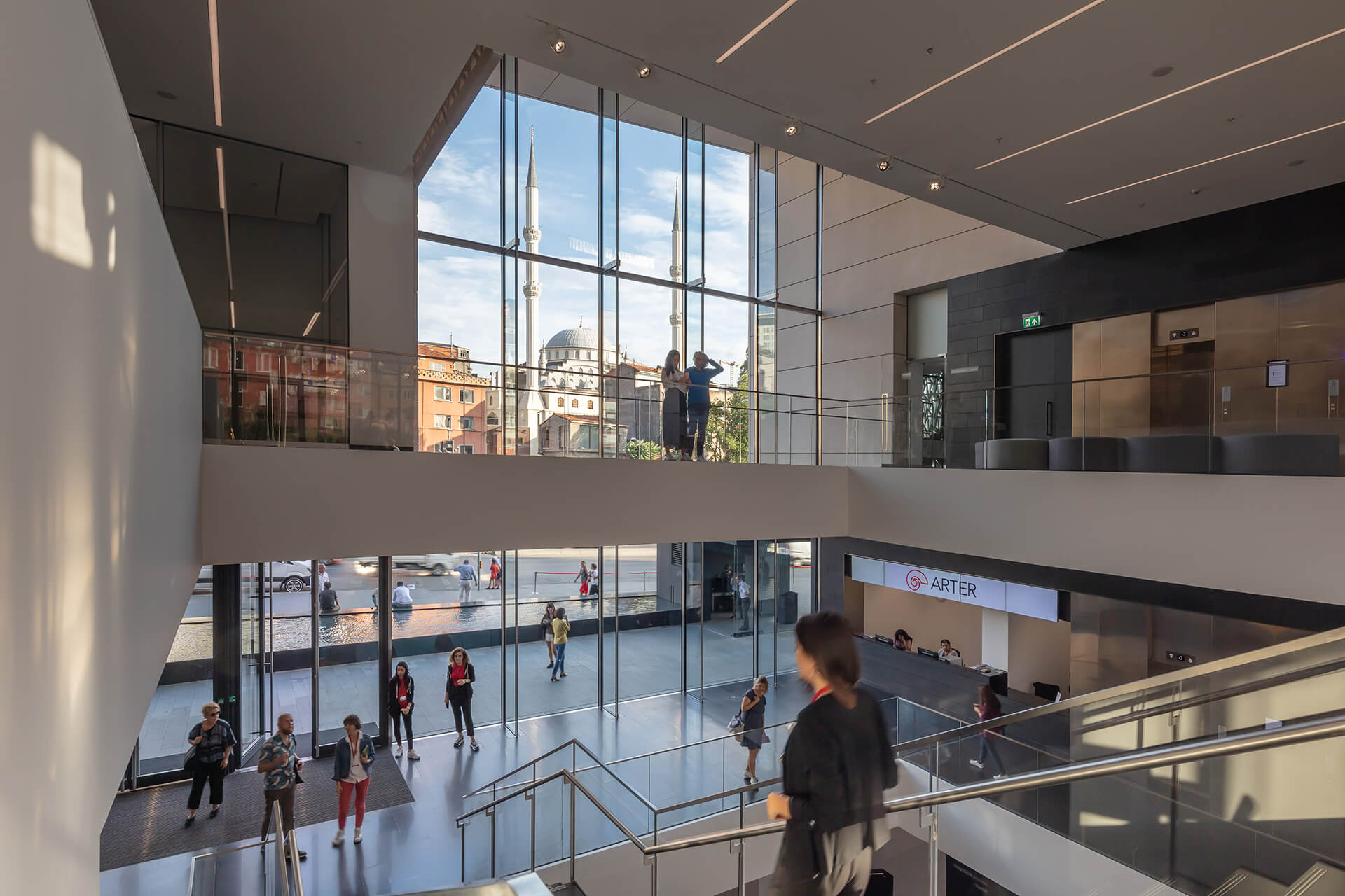 The Arter Contemporary Art Museum's triple height atrium | Arter Contemporary Art Museum by Grimshaw Architects | STIRworld