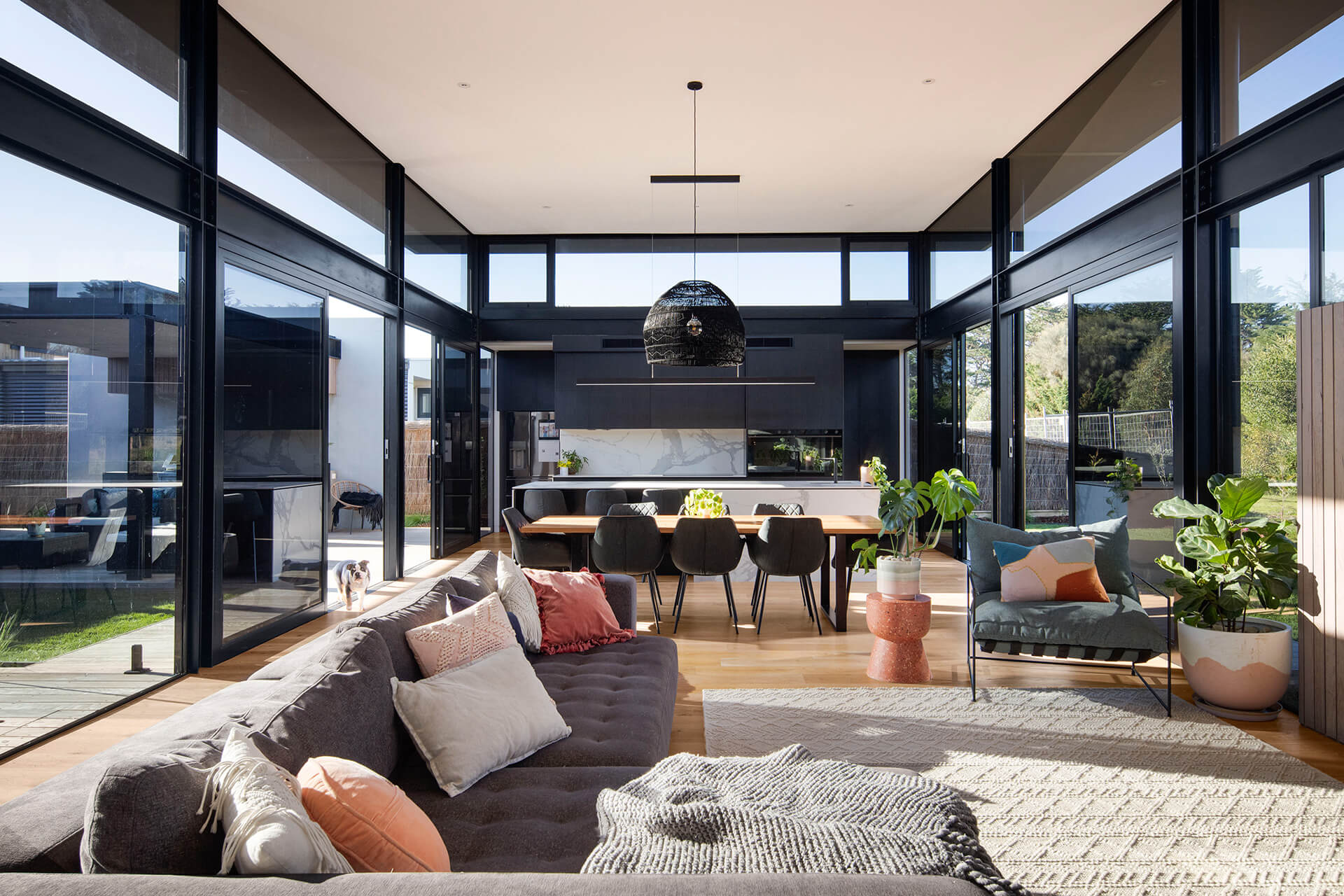 The living room that welcomes north light through the courtyard | Cashmore House | Lachlan Shepherd Architects | STIRworld