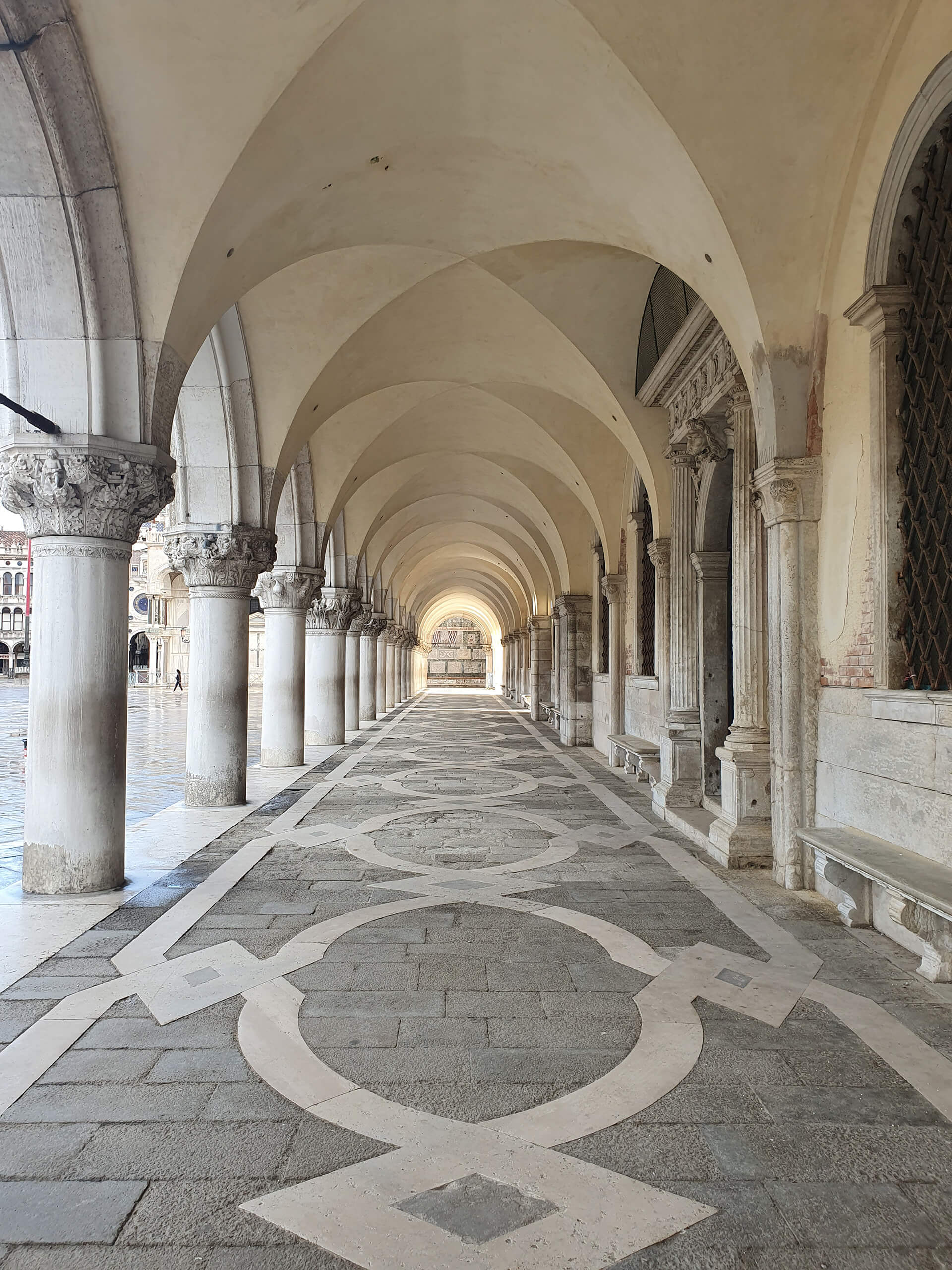A vacant arcade during the Venetian lockdown | Venice reopens post COVID-19 lockdown | STIRworld