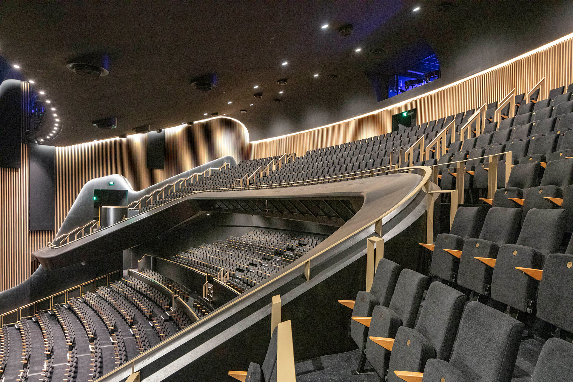 The central performance space with its fixed and retractable seating and timber envelope | Sydney Coliseum Theatre by Cox Architecture| STIRworld