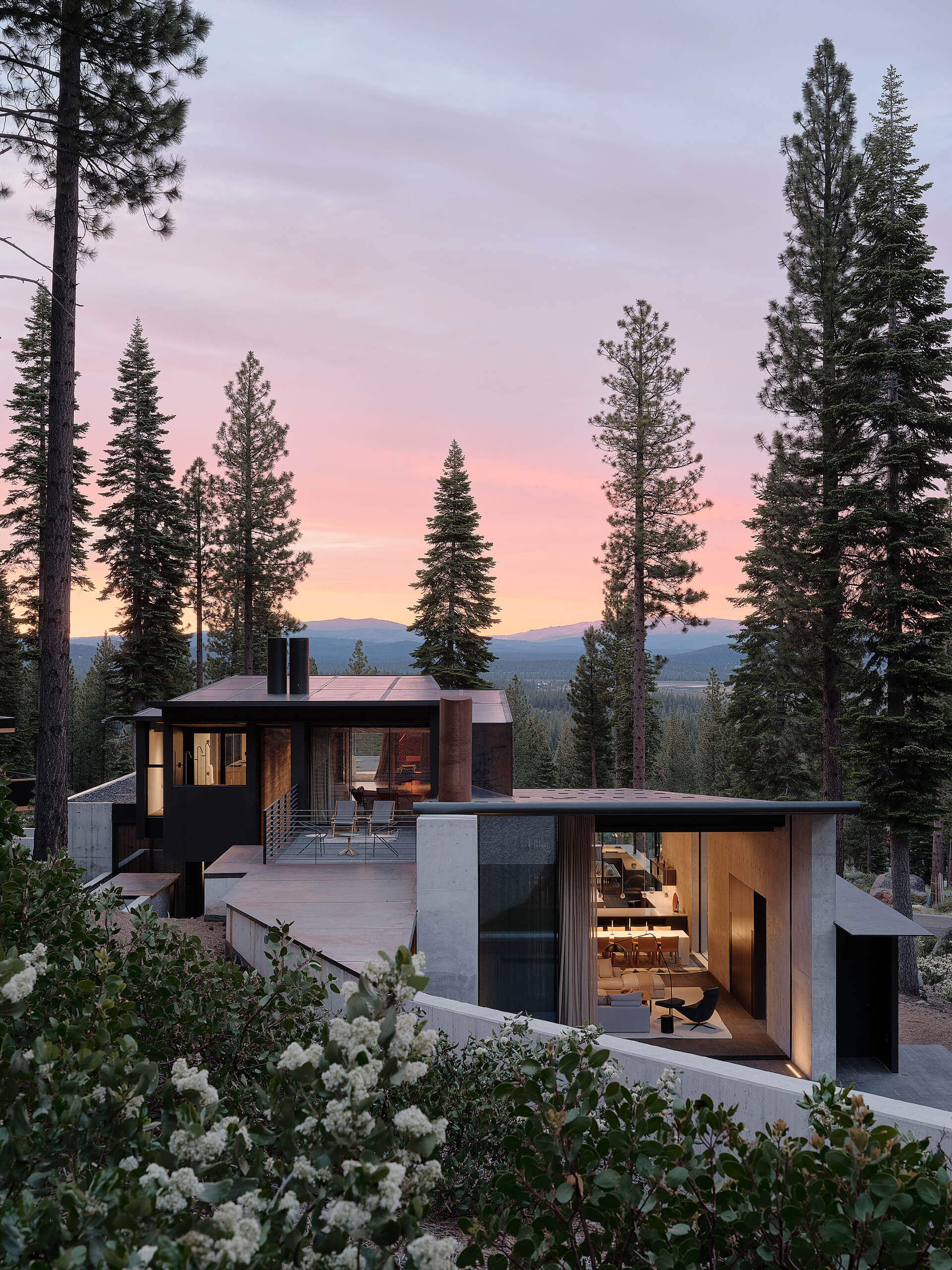 The alpine site's geology influences the design | Lookout House by Faulkner Architects | STIRworld