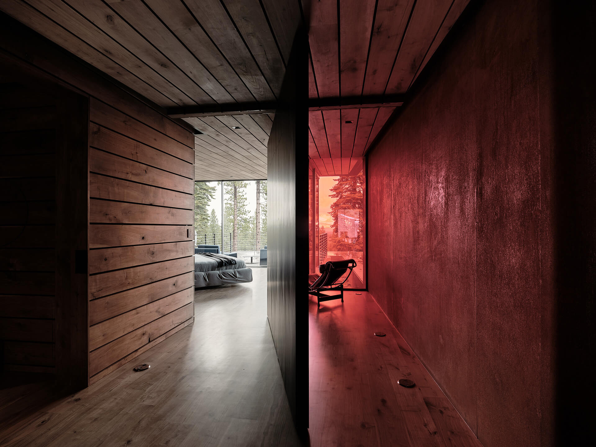 Entrance to the wood screened bedroom | Lookout House by Faulkner Architects | STIRworld