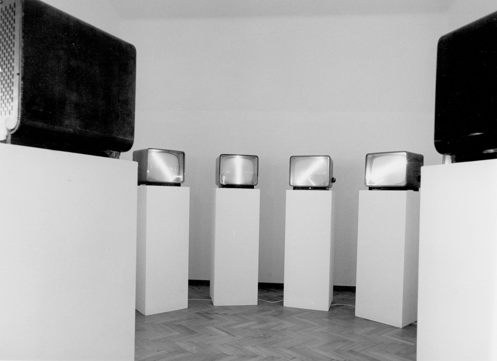 Nam June Paik frequently used television monitors as a material in his installations | The Future Is Now by Nam June Paik | STIRworld