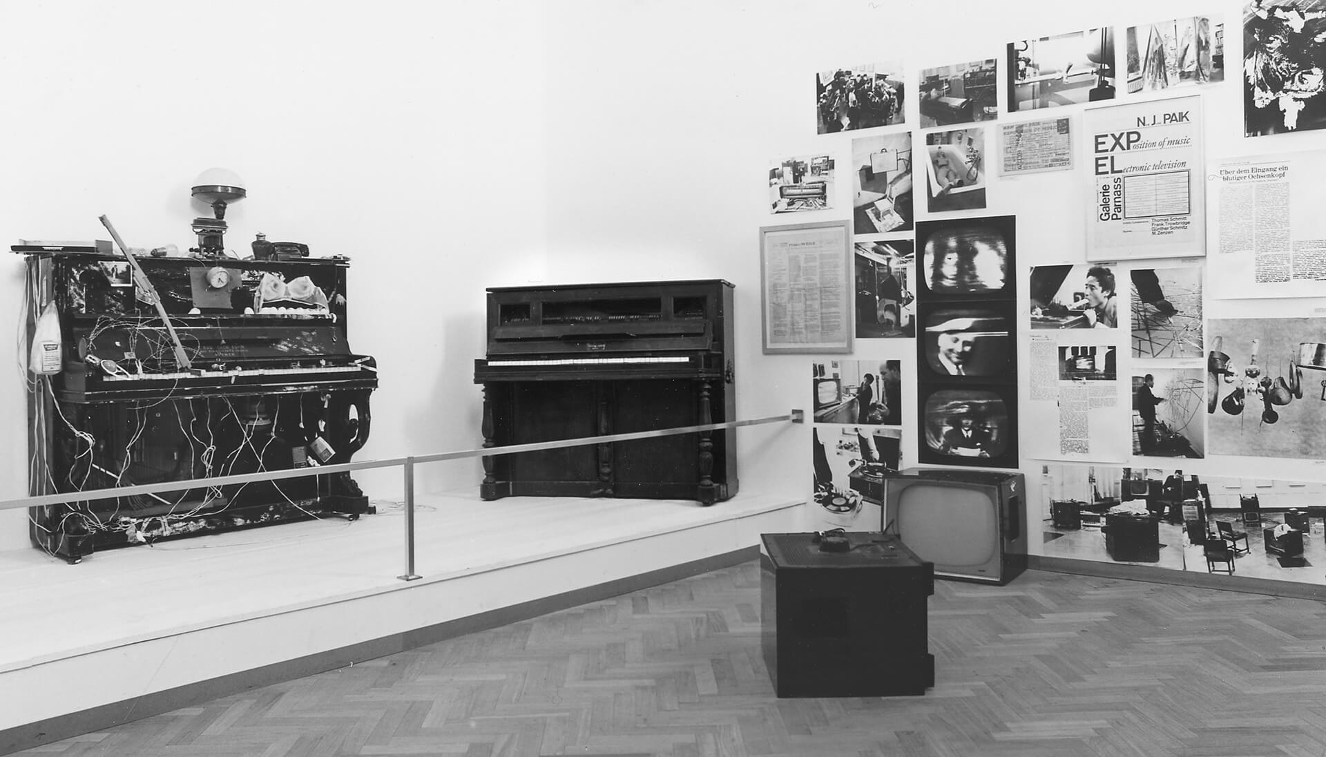An image from Stedelijk Museum's archives of Nam June Paik's first solo encapsulates the artist's interest in music and technology | The Future Is Now by Nam June Paik | STIRworld
