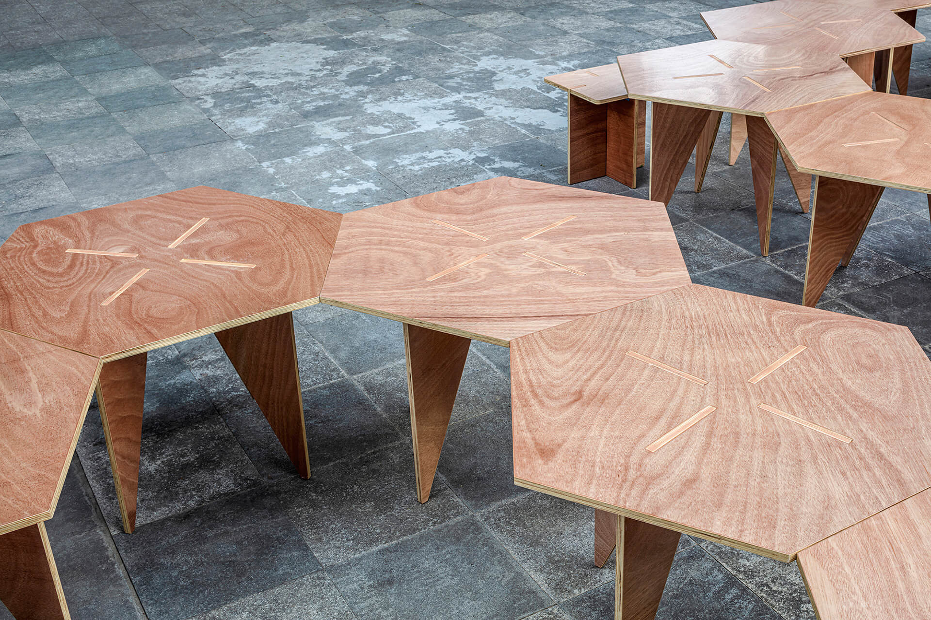 The prefabricated pieces are joined together through cut grooves | Pavilion S | Rooi Design and Research | STIRworld