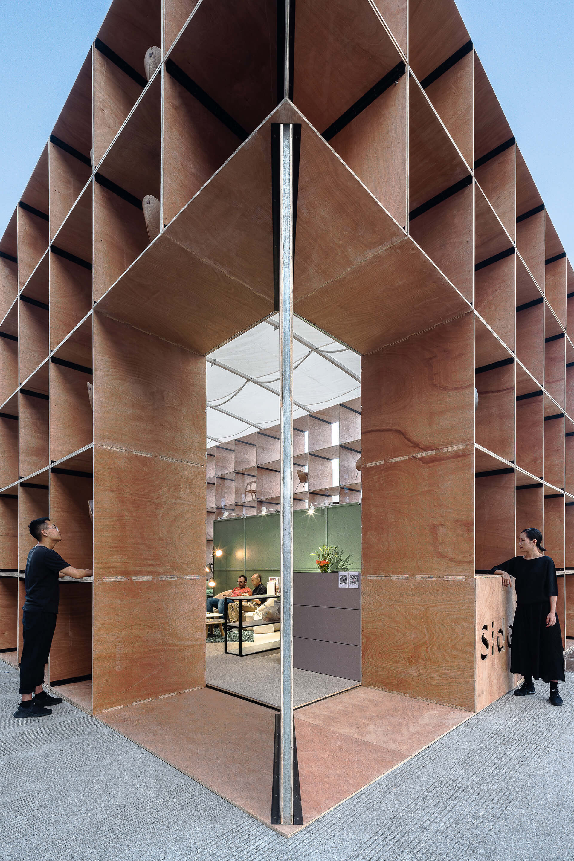 A void in the corner of the cube structure serves as the entrance | Pavilion S | Rooi Design and Research | STIRworld