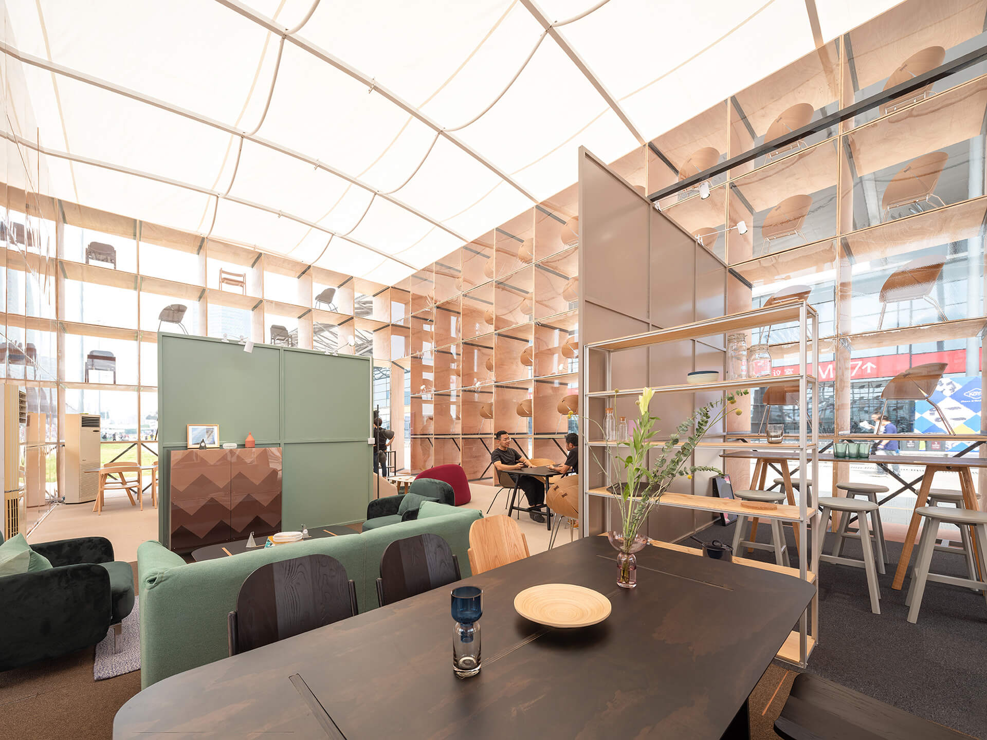 The interior space allows visitors to unwind and enjoy the exhibit | Pavilion S | Rooi Design and Research | STIRworld