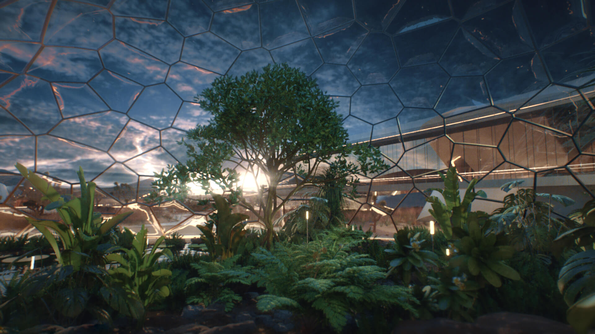 The biodome forms the central element of the village| EBIOS by Interstellar Lab | STIRworld