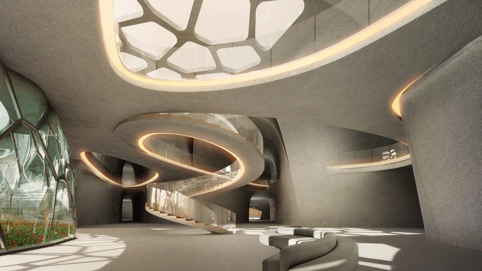 The interiors reflect the futuristic exteriors of EBIOS | EBIOS by Interstellar Lab | STIRworld