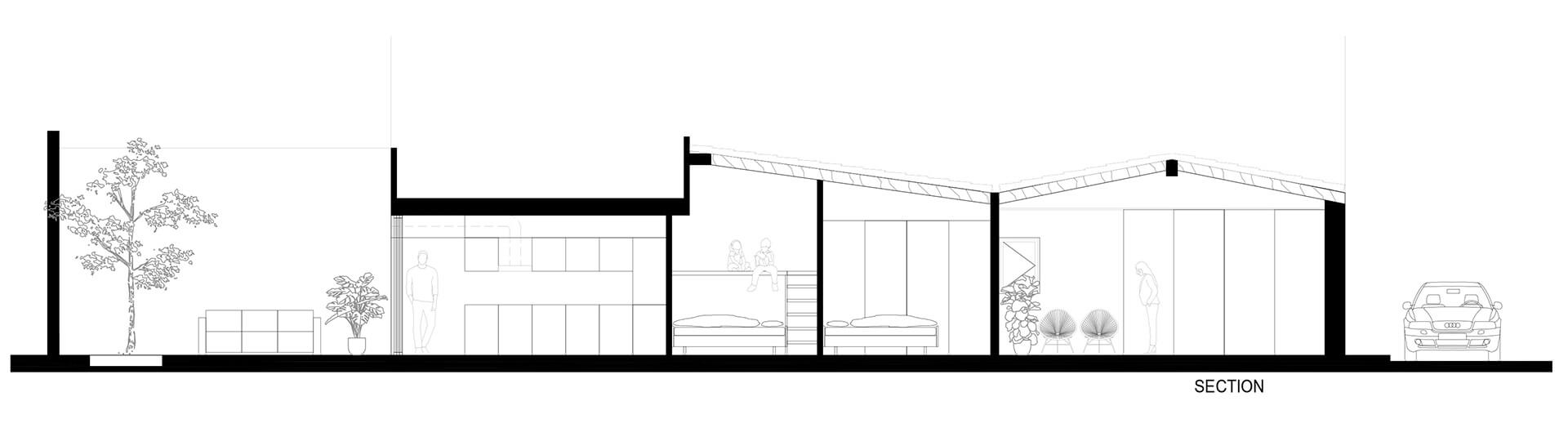 Section of the house showcases how skylights allow light to permeate through the roof | Portixol | Home | PMA Studio | STIRworld