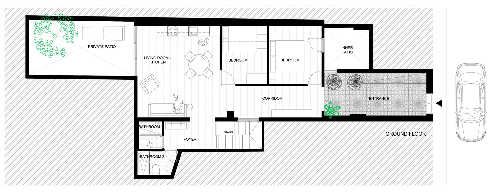 Ground floor plan of Portixol | Home by PMA Studio | STIRworld