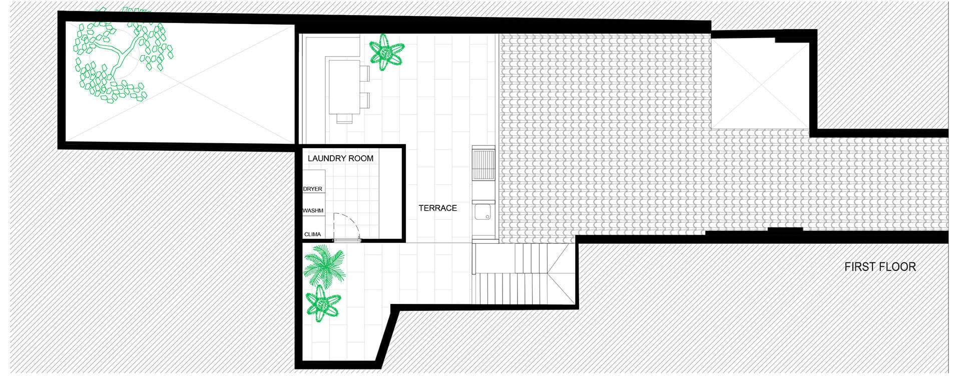 First floor plan of Portixol | Home by PMA Studio | STIRworld