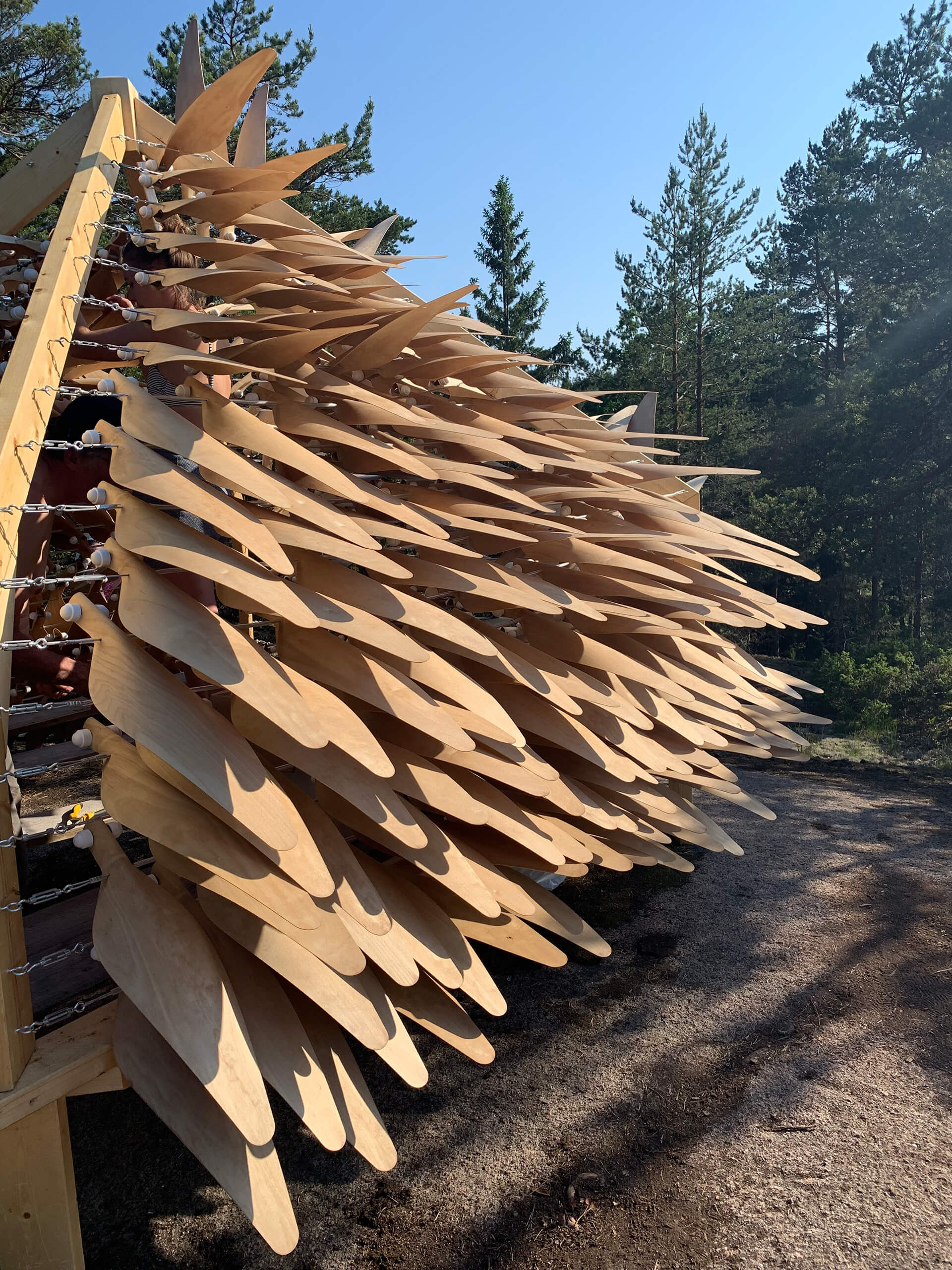 The kinetic shingles respond to weather conditions | Shiver House | NEON | STIRworld