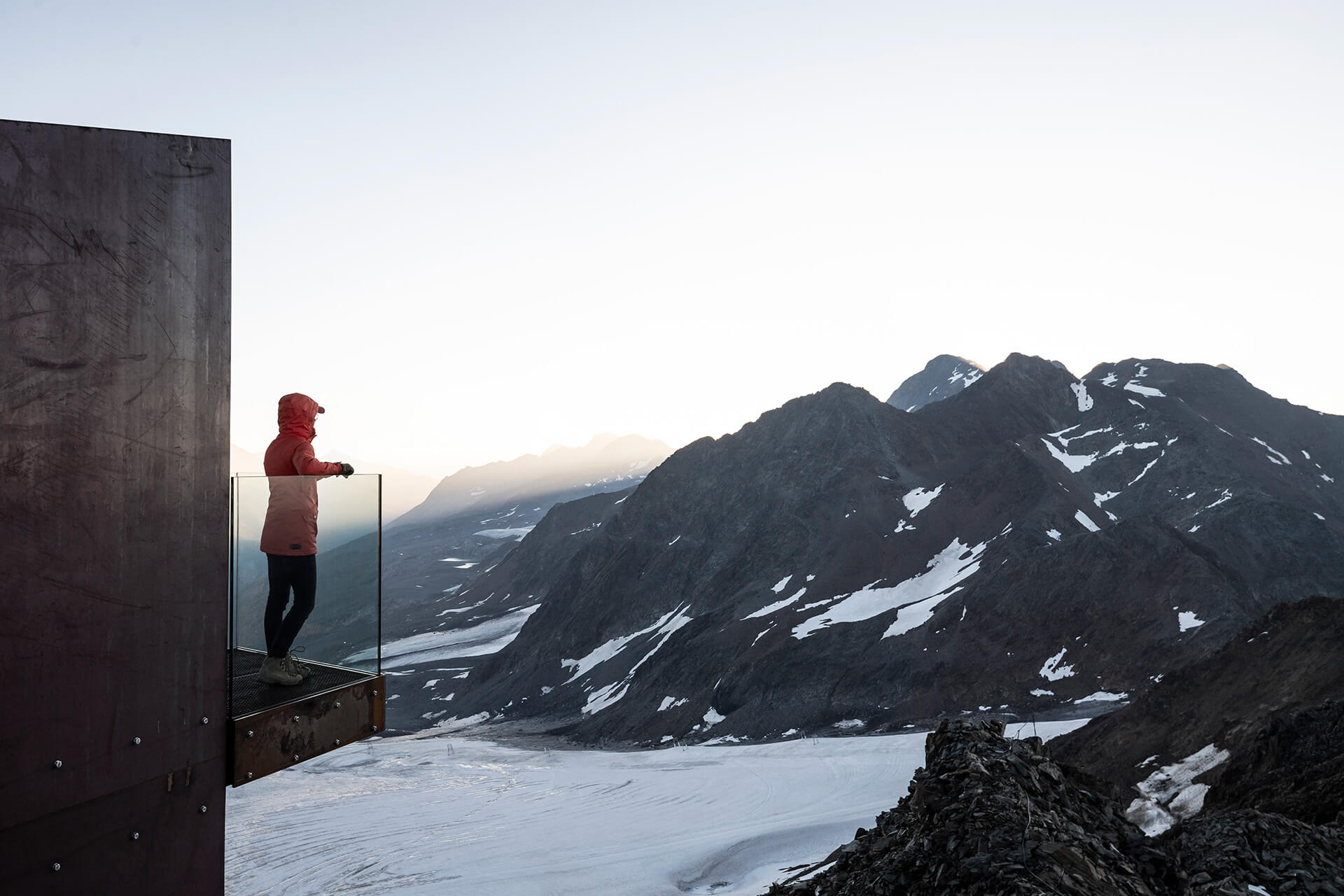 noa* designed the viewing platform as an observation tower for hikers, skiers and mountain nomads | Ötzi Peak 3251m | noa* network of architecture | STIRworld