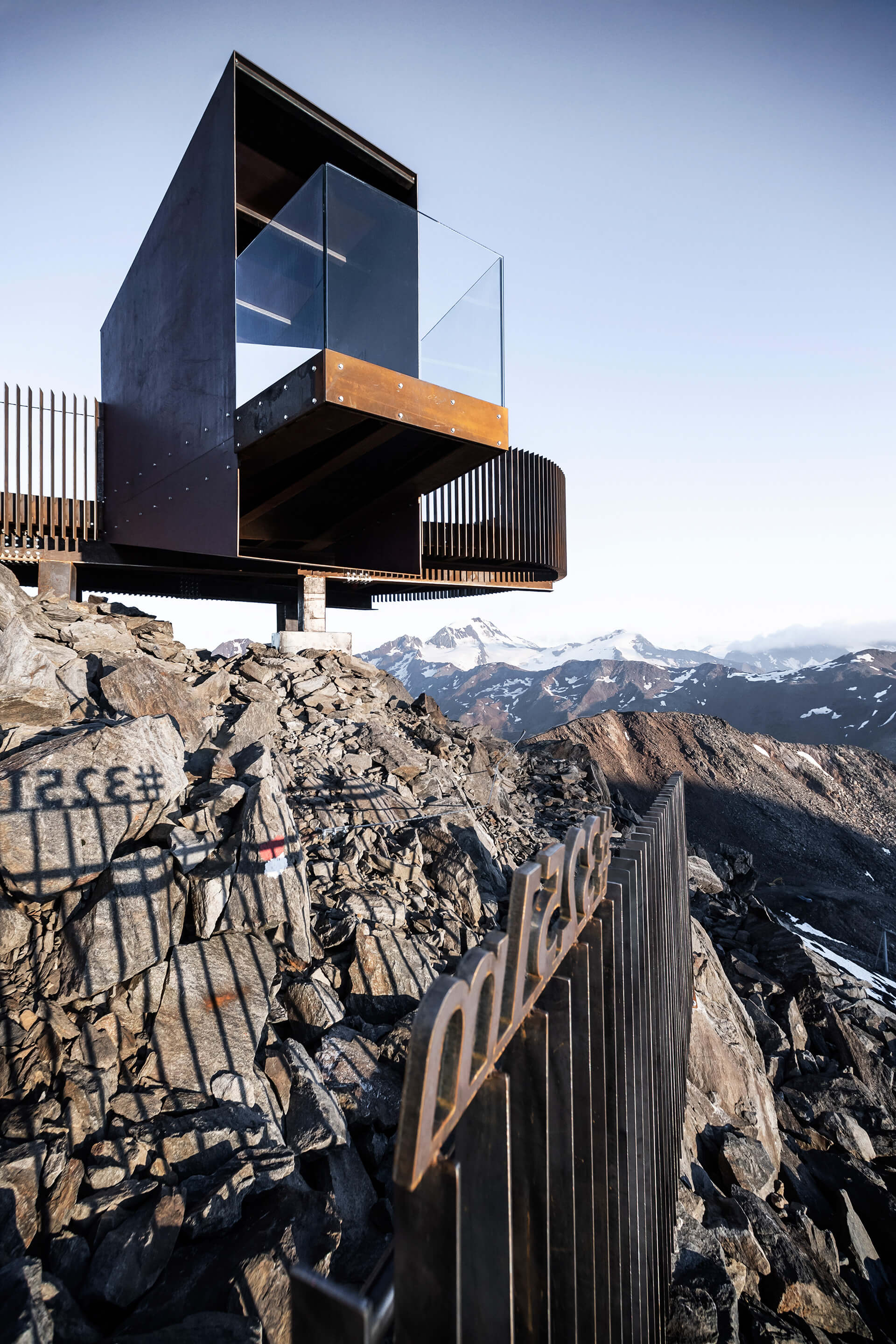The observation deck hovers over the ground to incorporate a preexisting summit cross | Ötzi Peak 3251m | noa* network of architecture | STIRworld