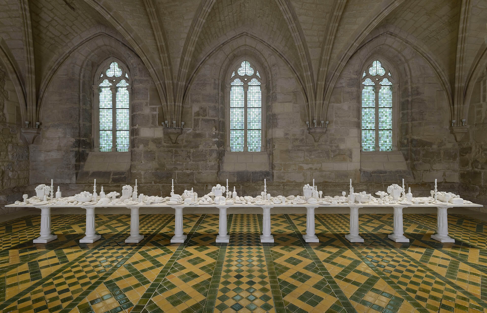 'The Last Supper' (2014) on view at Abbaye de Maubuisson in France | The Last Supper (2014) | Ken + Julia Yonetani | STIRworld