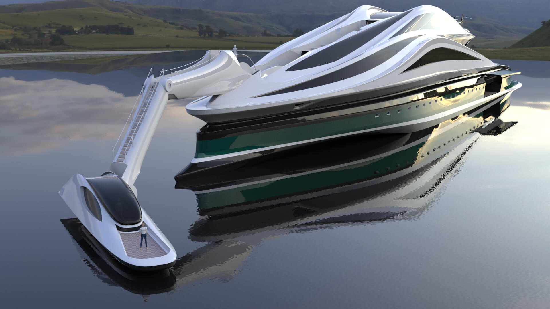 The cockpit can also be disconnected and used as an auxiliary boat | Avanguardia by Lazzarini Design Studio | STIRworld