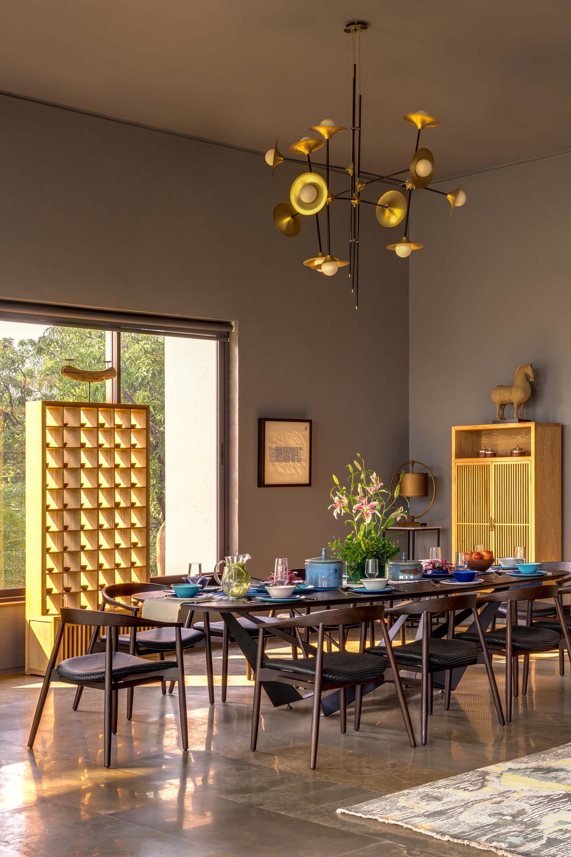 The dining spaces | Uminoya – Weekend home in Alibaug | Clay Architecture and Interiors | STIRworld
