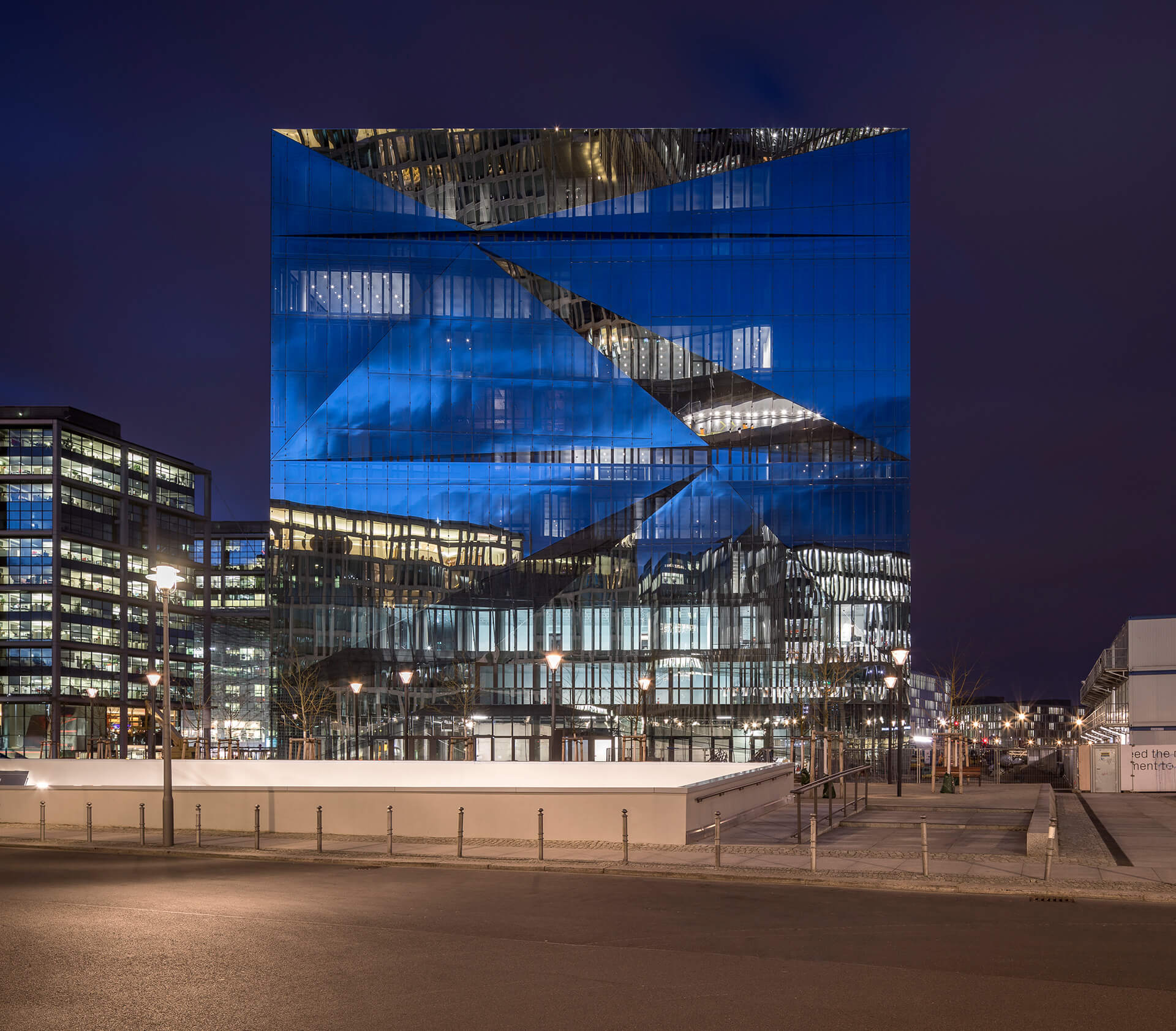 cube berlin at night | cube berlin designed by 3XN | STIRworld