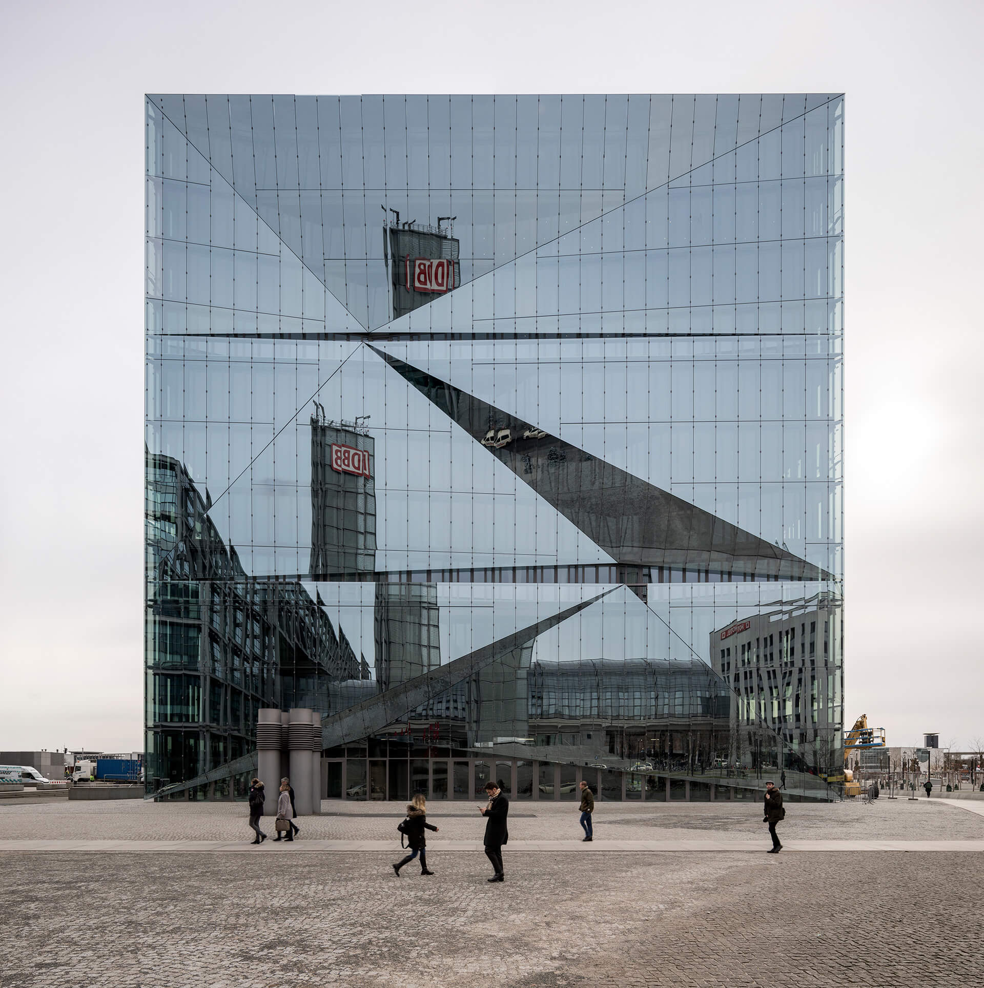 cube berlin interacts with the city via its reflective glass exterior  | cube berlin designed by 3XN | STIRworld