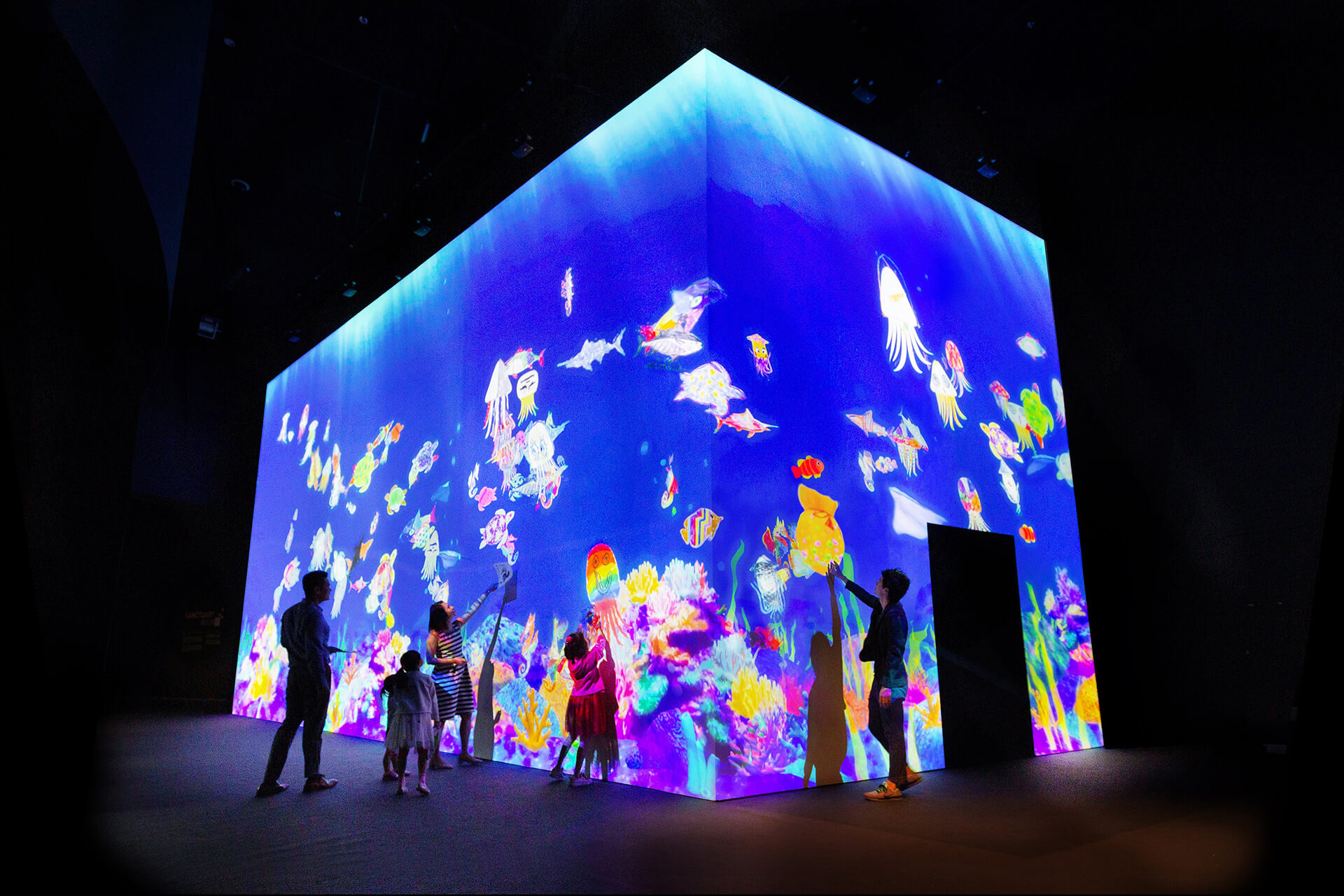 'Sketch Aquarium' is an installation by teamLab at ArtScience Museum Singapore | Future World by teamLab | STIRworld