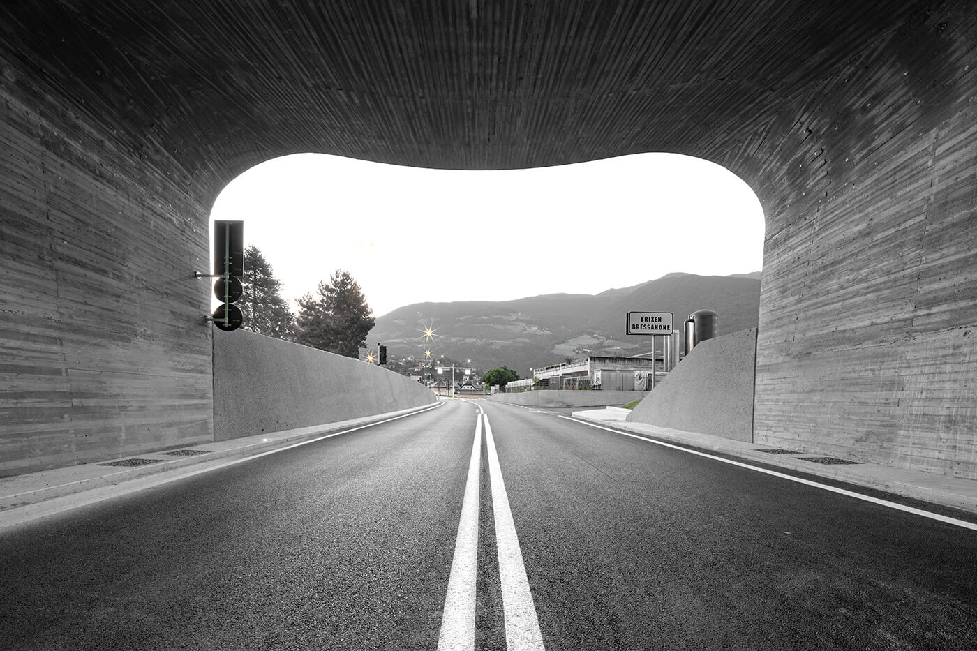 The curvilinear entry portal to the Bressanone-Varna Entry Portal Ring Road | Bressanone-Varna Entry Portal Ring Road by Modus Architects | STIRworld