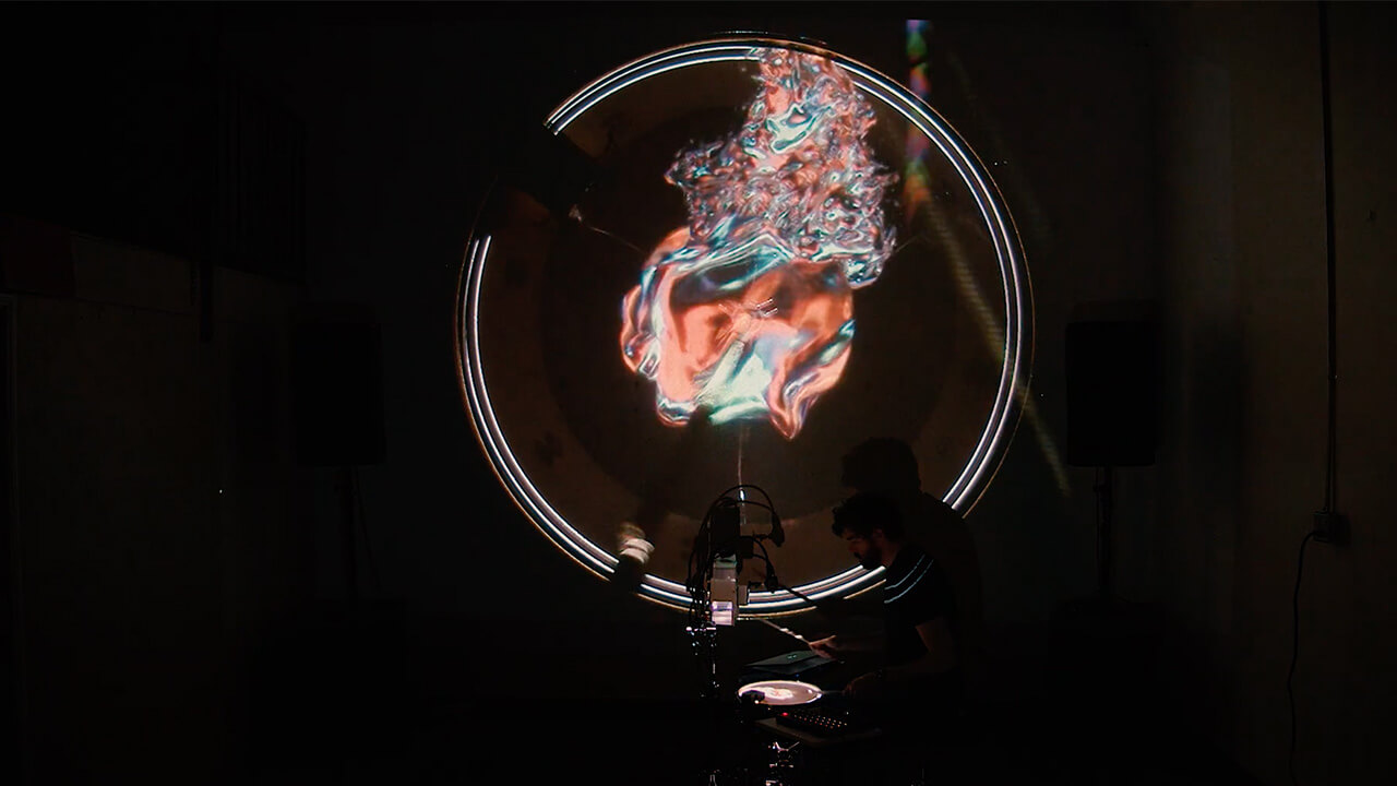 A live audio-visual performance by Bolton titled Malleable | Radii | Brett Bolton | STIRworld