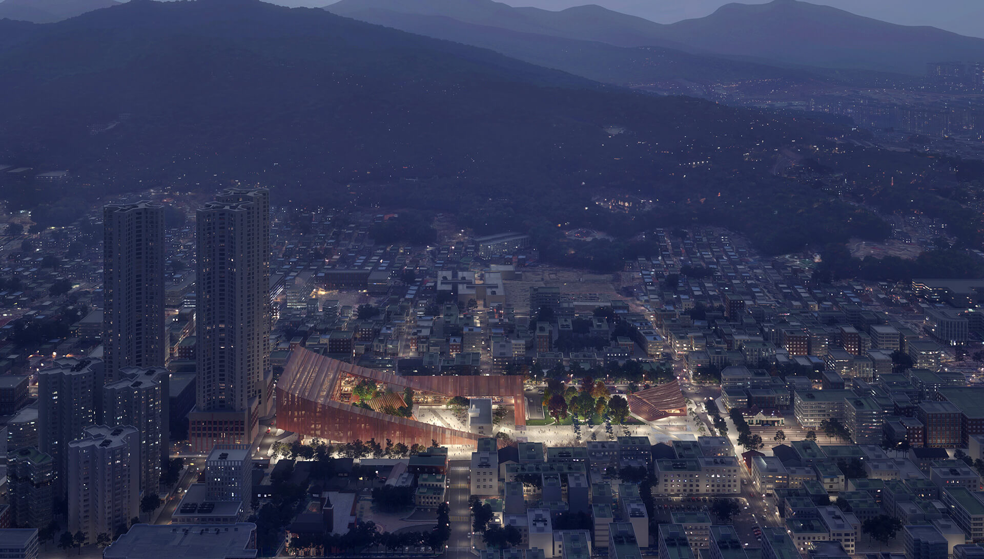 Cheongju New City Hall is located in the economic hub of Cheongju | Cheongju New City Hall | Snøhetta | STIRworld