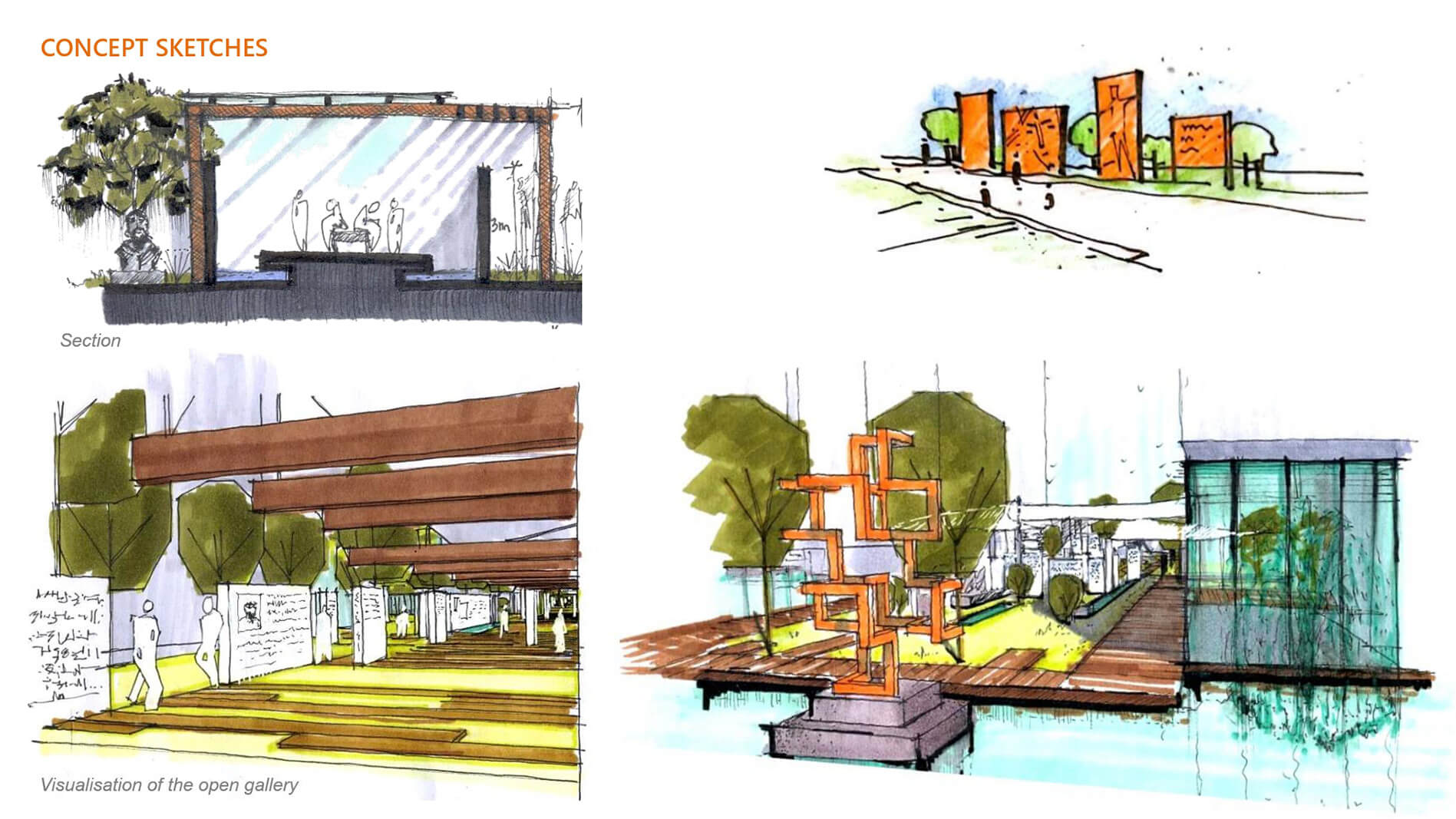 Initial conceptual sketches by Morphogenesis | ITC Campus by Morphogenesis | STIRworld