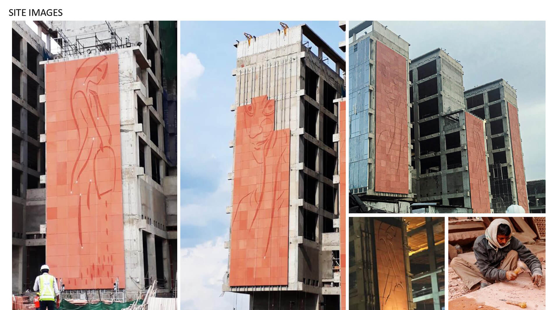 The stone façades are covered in carved murals | ITC Campus by Morphogenesis | STIRworld