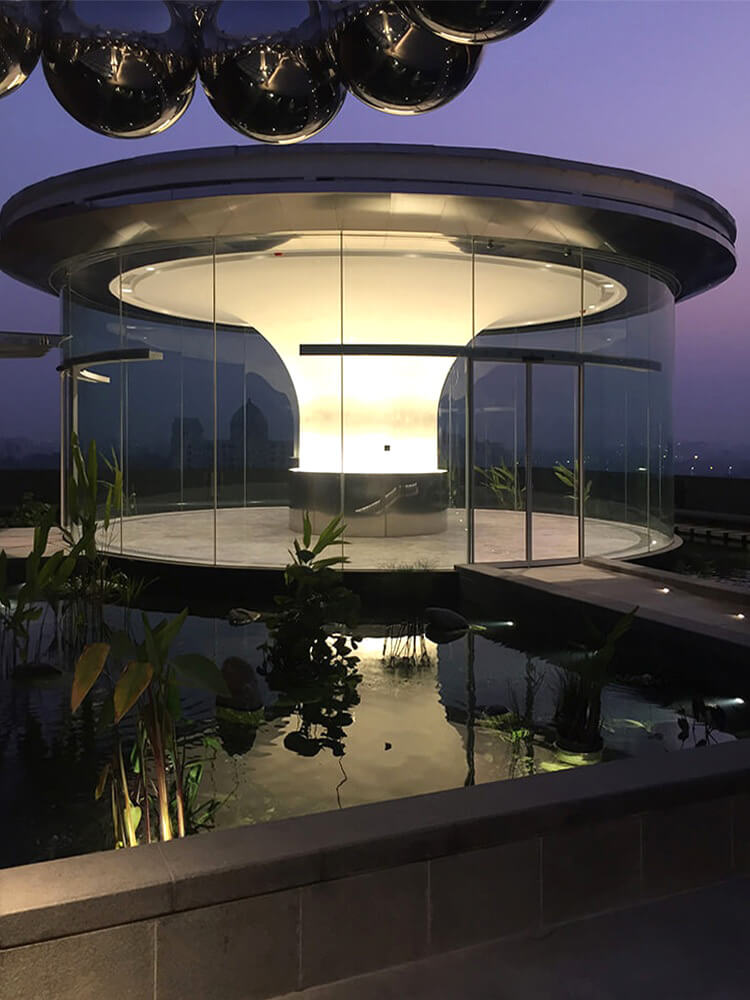 The rooftop offers new spaces from where one can admire the city of Kolkata | RP-Sanjiv Goenka Group corporate office by Abin Design Studio | STIRworld