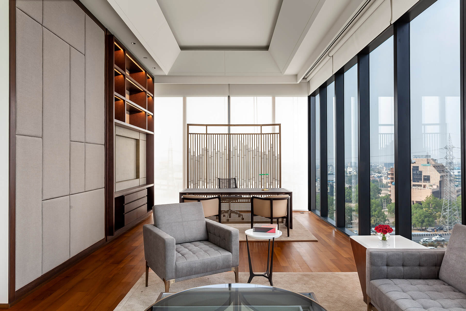 The Chairman's Cabin | East India Hotels headquarters by Architecture Discipline | STIRworld