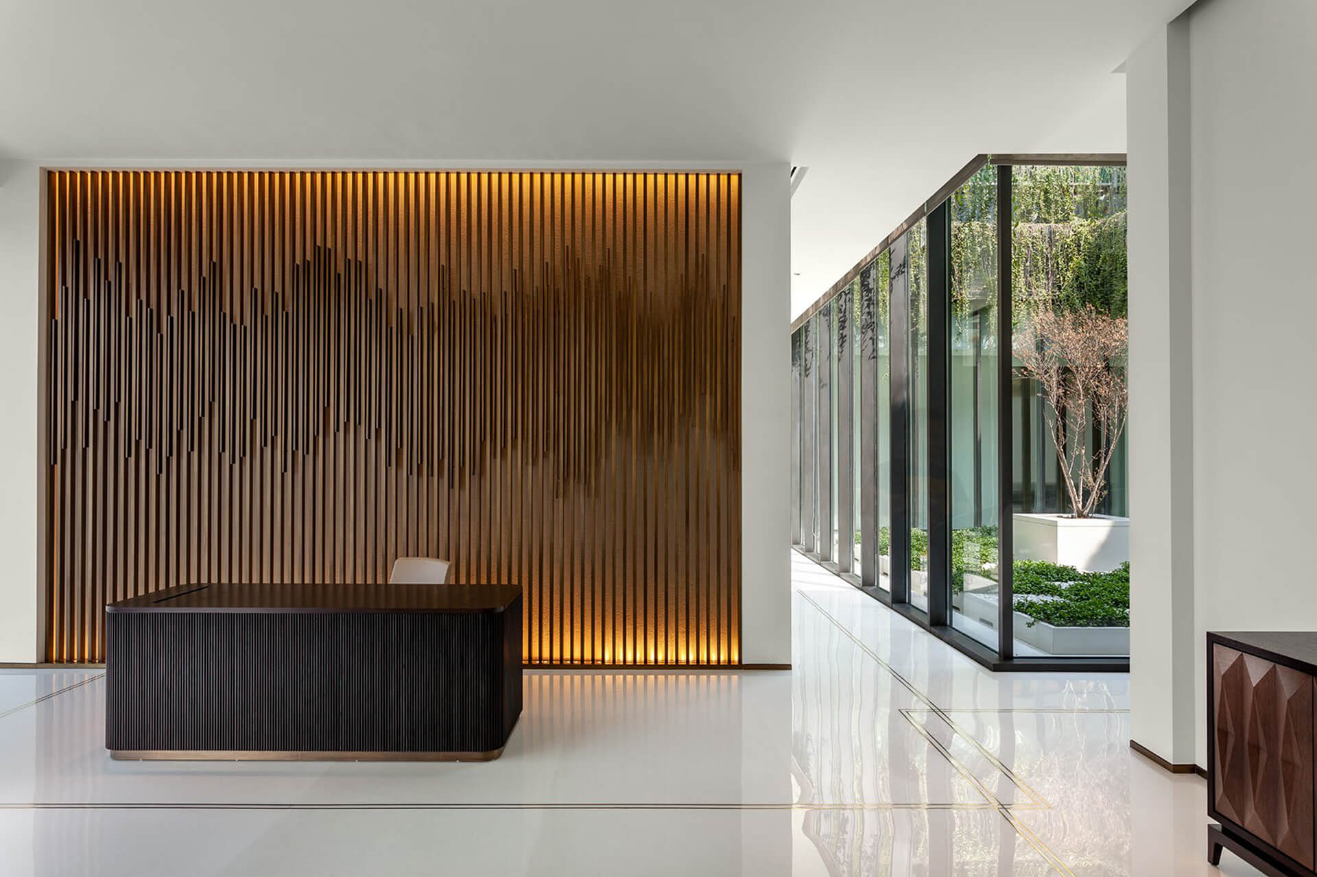 An informal reception greets visitors into the corporate office | East India Hotel's headquarters by Architecture Discipline | STIRworld