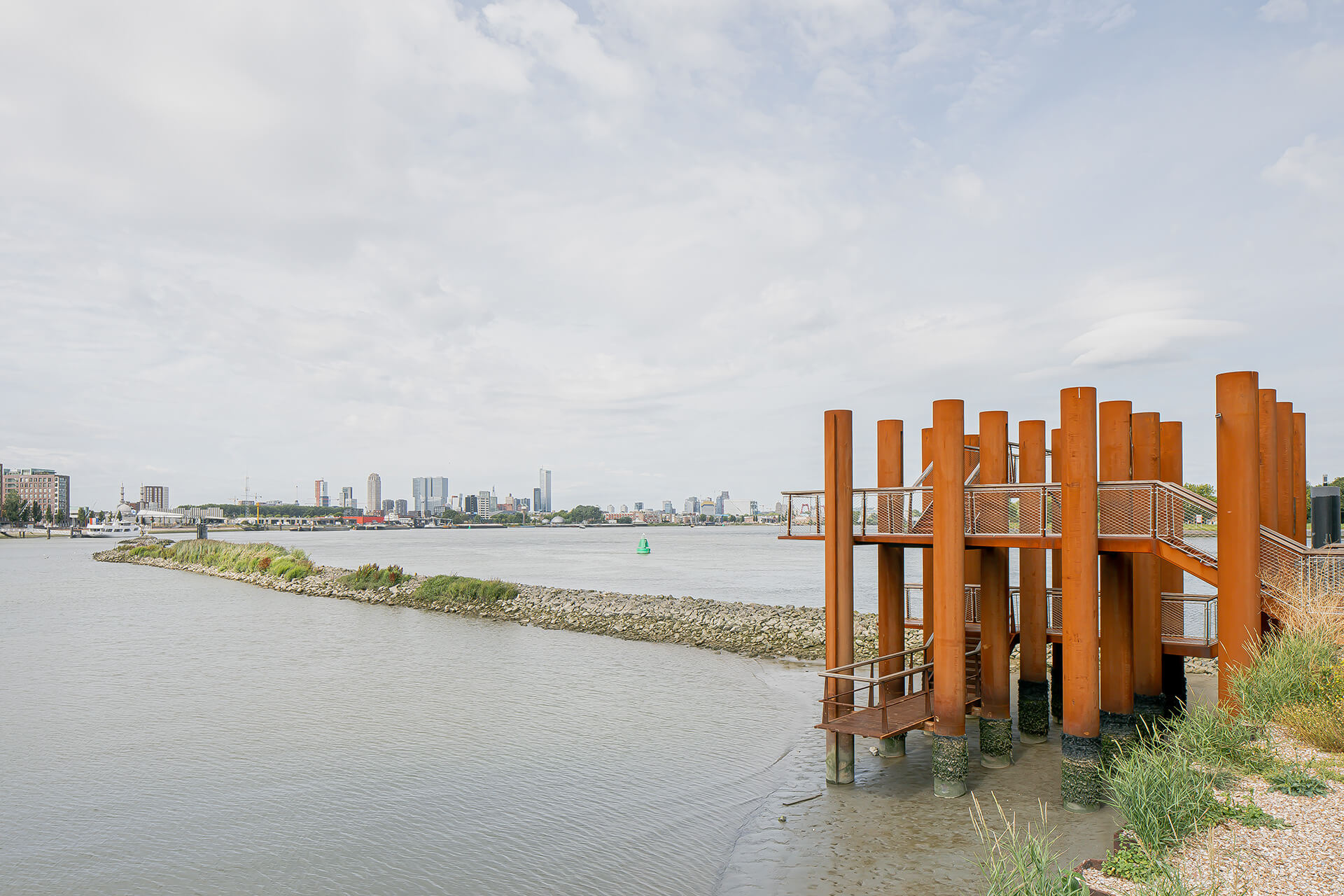 Water Woods provides vantage points towards the Maas river and the city | Water Woods Maaspoints | Next Architects | STIRworld
