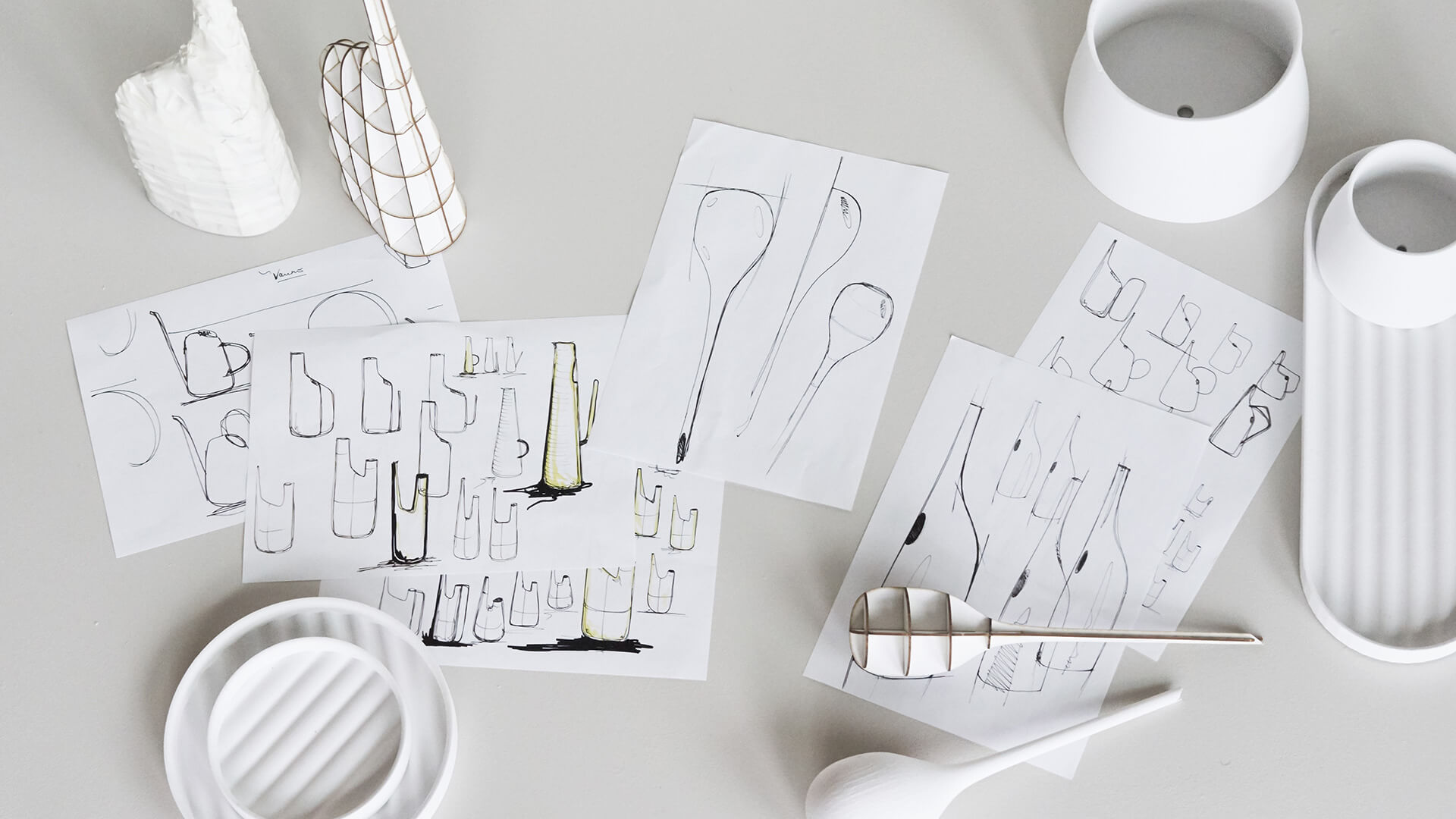 Conceptual sketches for the Terra collection | Snøhetta designs Terra collection for Georg Jensen | STIRworld