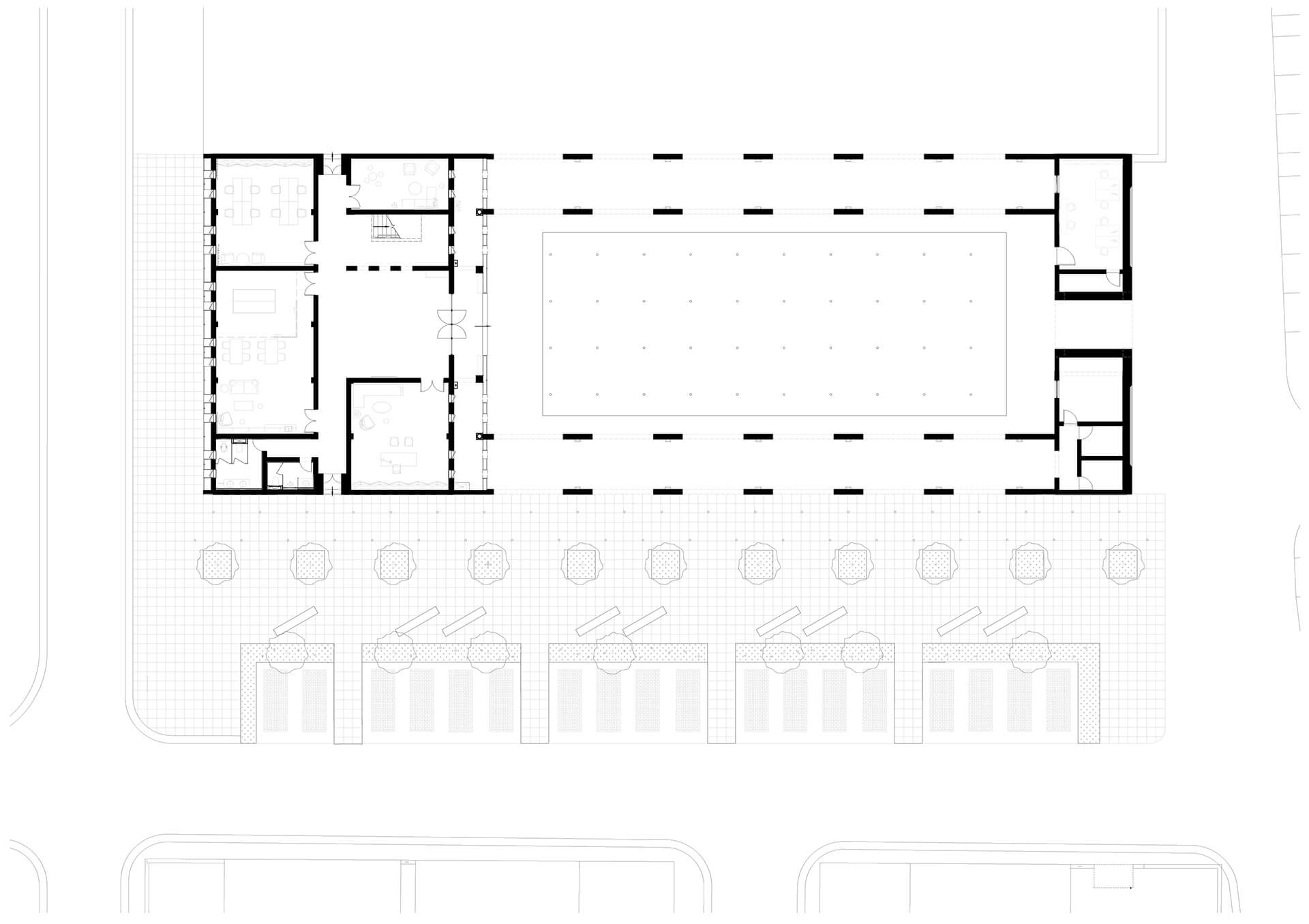 Layout Plan – Ground Floor | Qinchang Village Community Center | Studio 10 | STIRworld