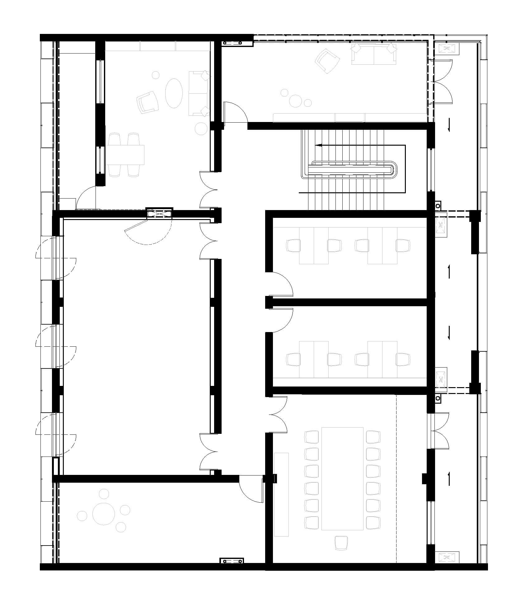 Layout Plan – First Floor | Qinchang Village Community Center | Studio 10 | STIRworld