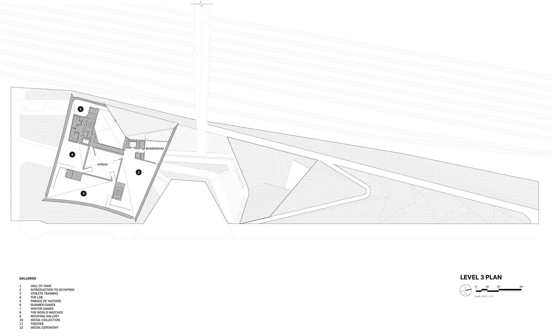 Level 3 Floorplan, USOPM | United States Olympic and Paralympic Museum | Diller Scofidio + Renfro | STIRworld