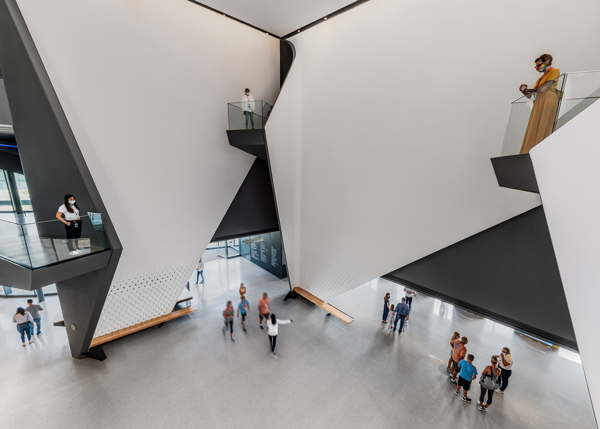 Balconies from galleries overlooking the central atrium for wayfinding | United States Olympic and Paralympic Museum | Diller Scofidio + Renfro | STIRworld