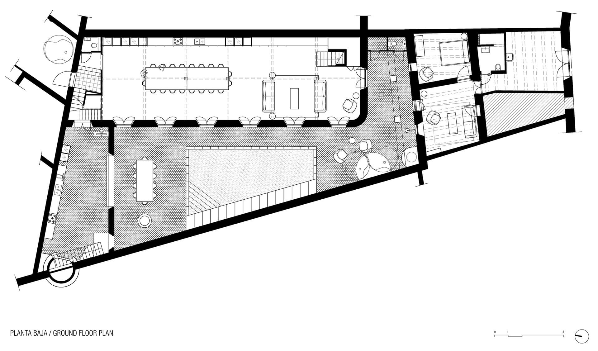 Ground floor plan | Dirk and the Chocolate Factory | Anna and Eugeni Bach Architects | STIRworld