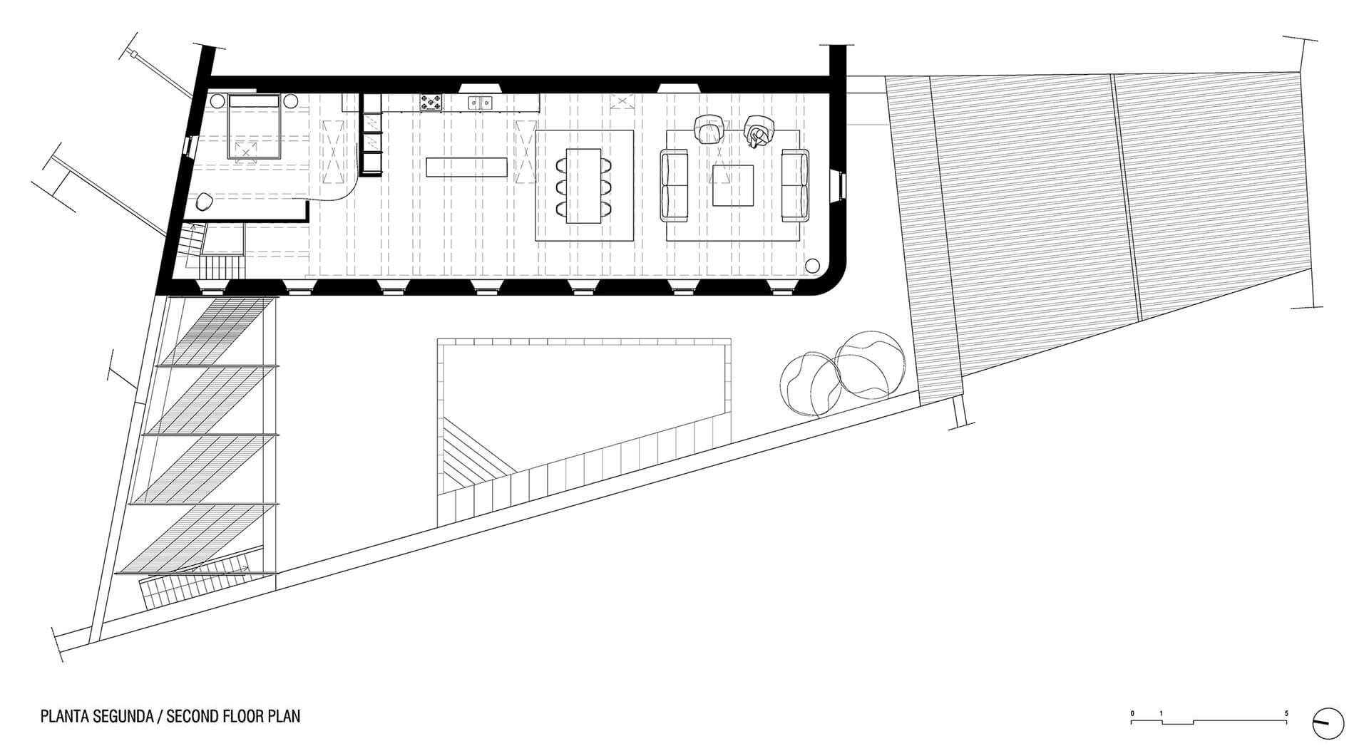 Second floor plan | Dirk and the Chocolate Factory | Anna and Eugeni Bach Architects | STIRworld