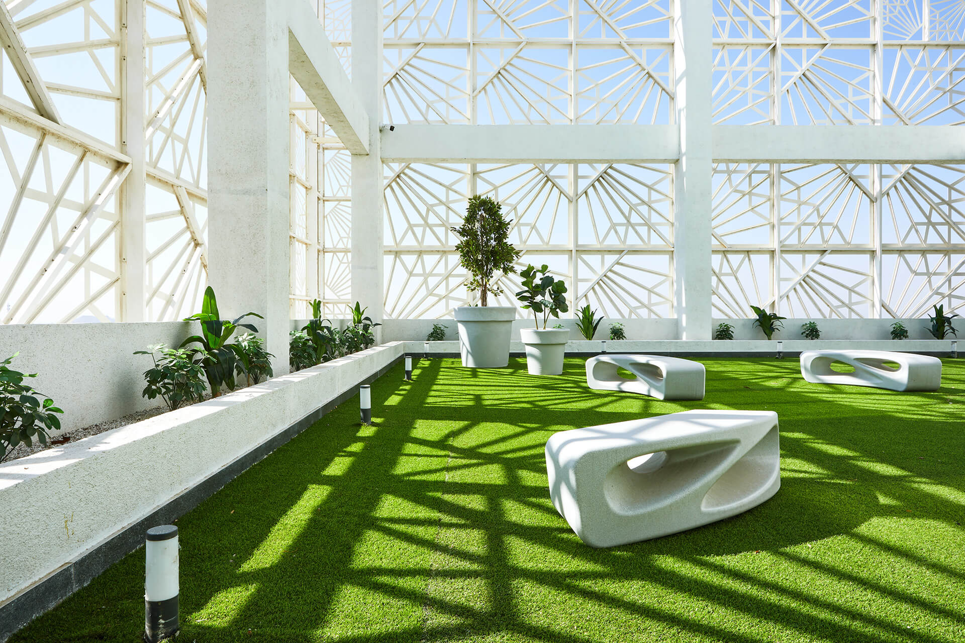 Offices are scattered among green spaces and open terraces | Auric Hall by IMK Architects | STIRworld
