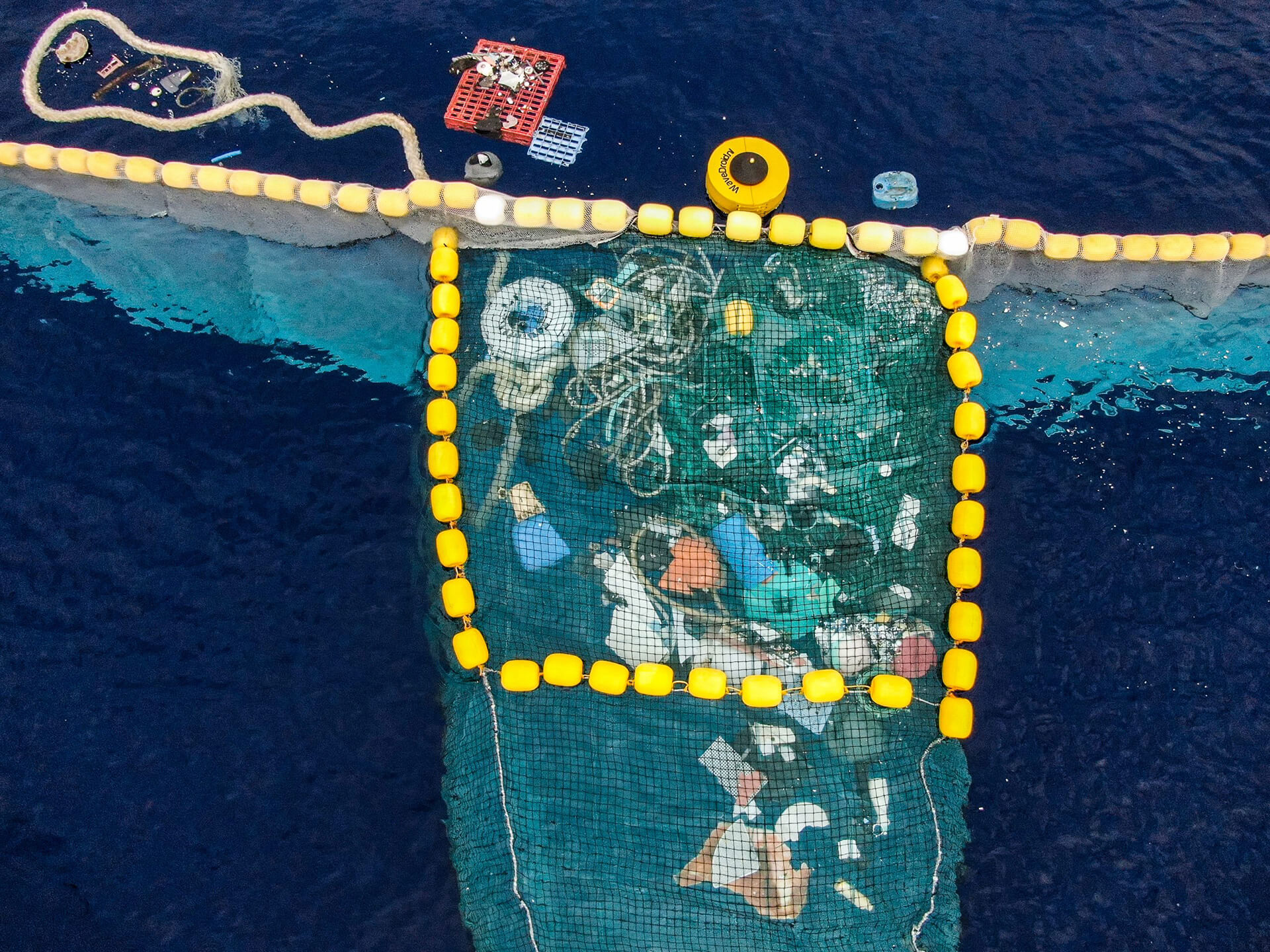 Plastic caught inside System 001/B in 2019 | The Ocean Cleanup Sunglasses | STIRworld