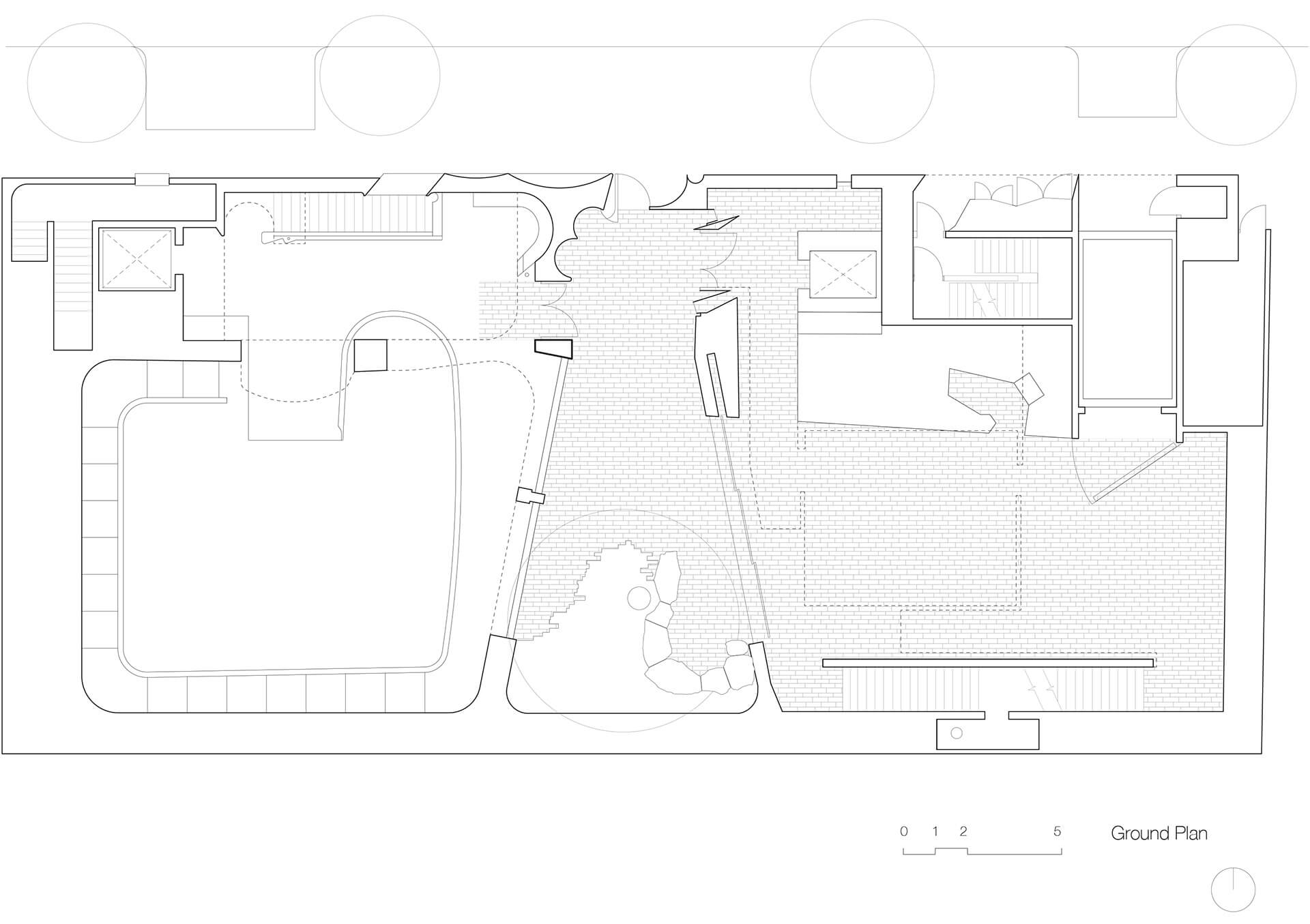 The Ground Floor plan that shows the performance space by Durbach Block Jaggers on the left and gallery by John Wardle Architects on the right | Phoenix Central Park | Durbach Block Jaggers and John Wardle Architects | STIRworld