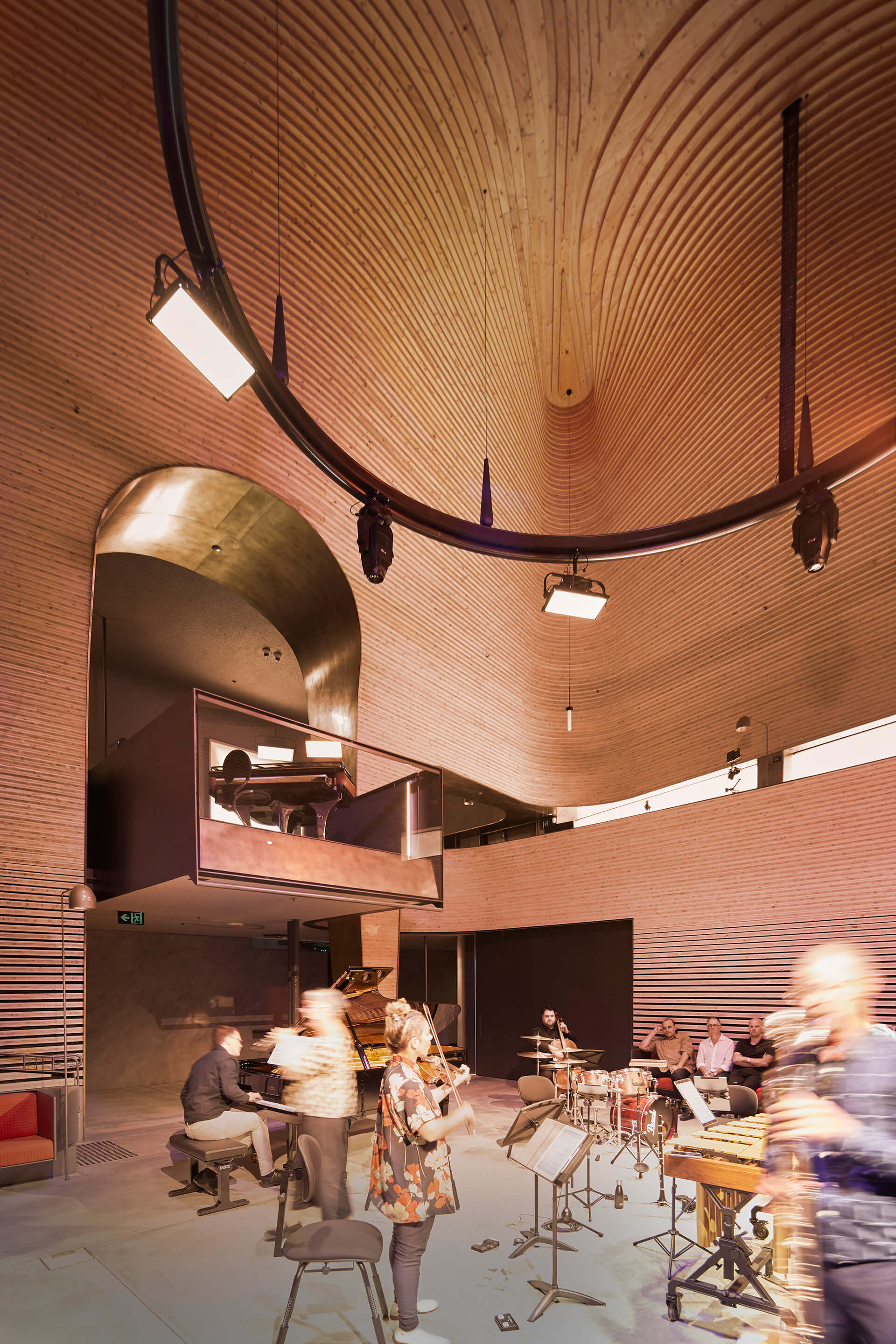 The performance space is one volume designed as a singular bell-shaped clearing | Phoenix Central Park | Durbach Block Jaggers and John Wardle Architects | STIRworld