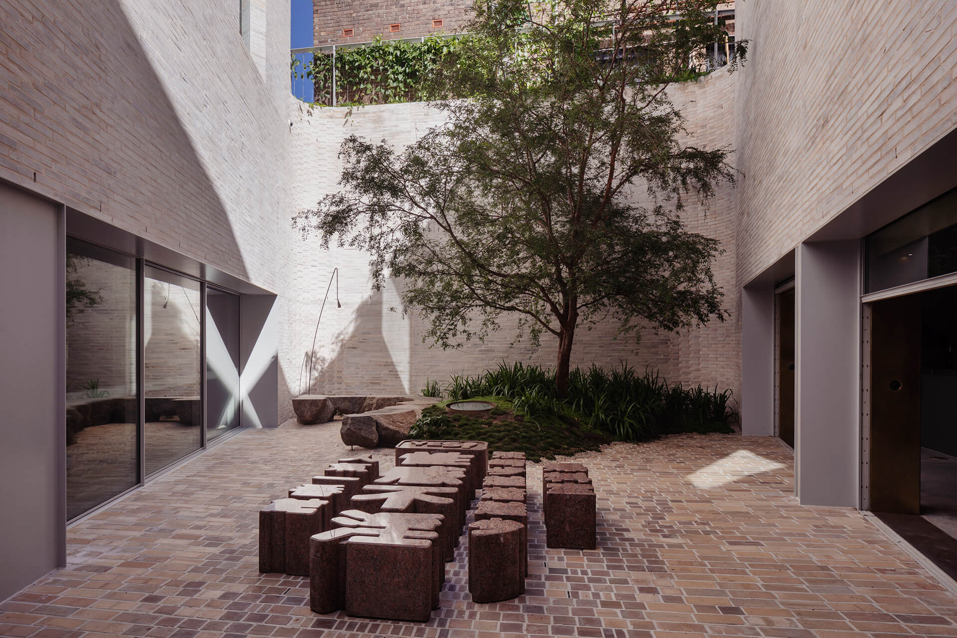 The courtyard that separates the two spaces | Phoenix Central park | Durbach Block Jaggers and John Wardle Architects | STIRworld