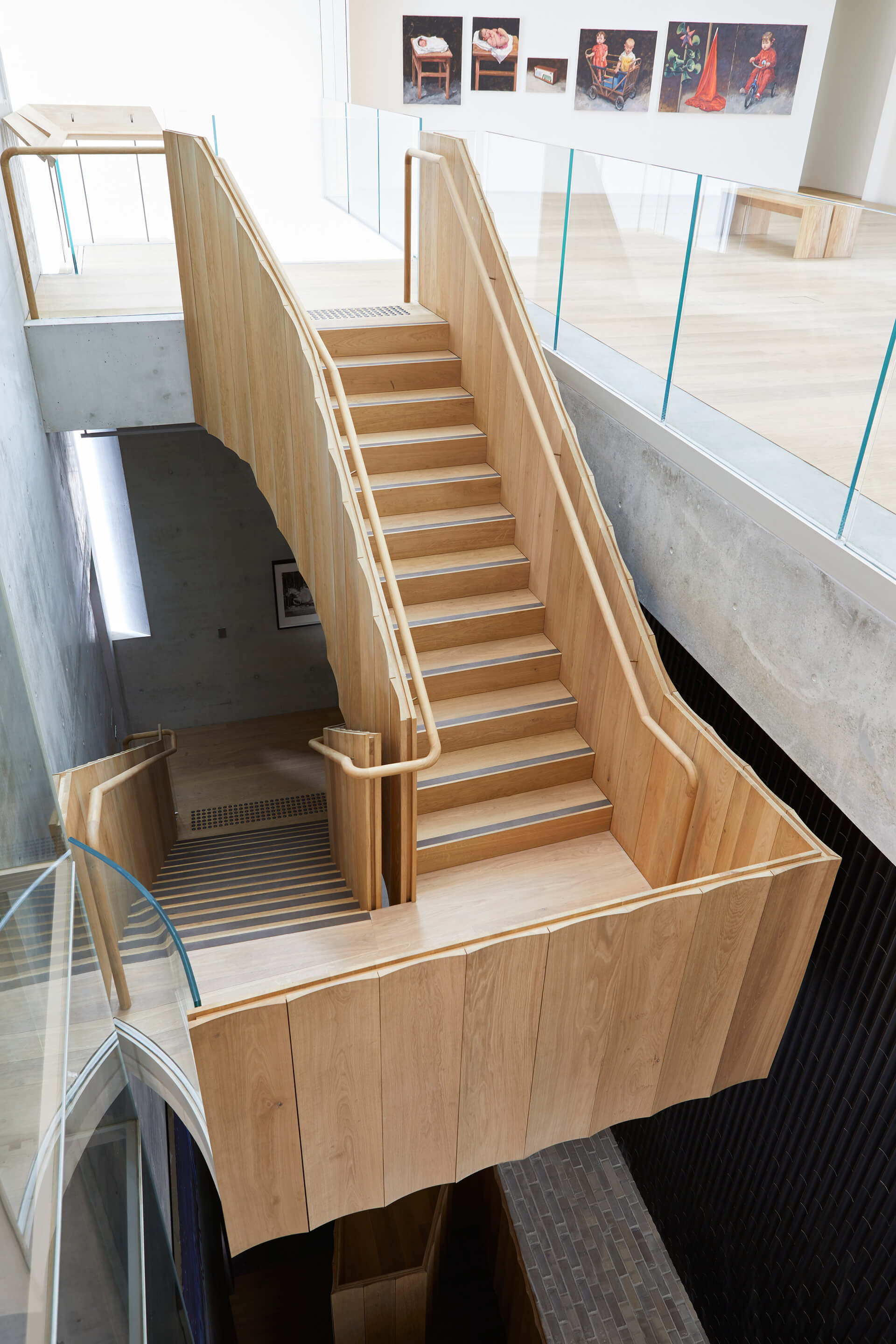 The staircase in the gallery space | Phoenix Central Park | Durbach Block Jaggers and John Wardle Architects | STIRworld